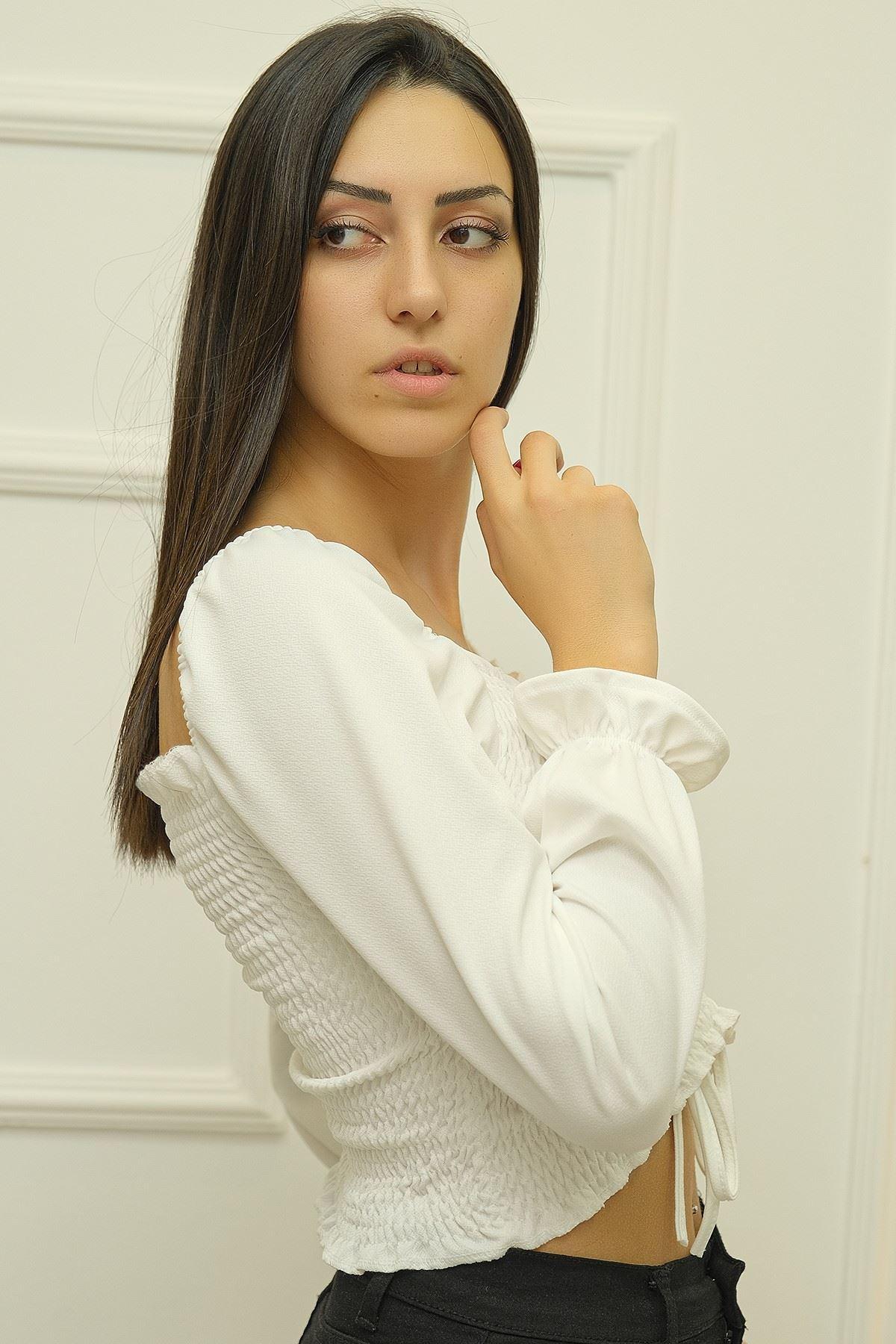Gipeli Bluz Beyaz - 8086.1234.
