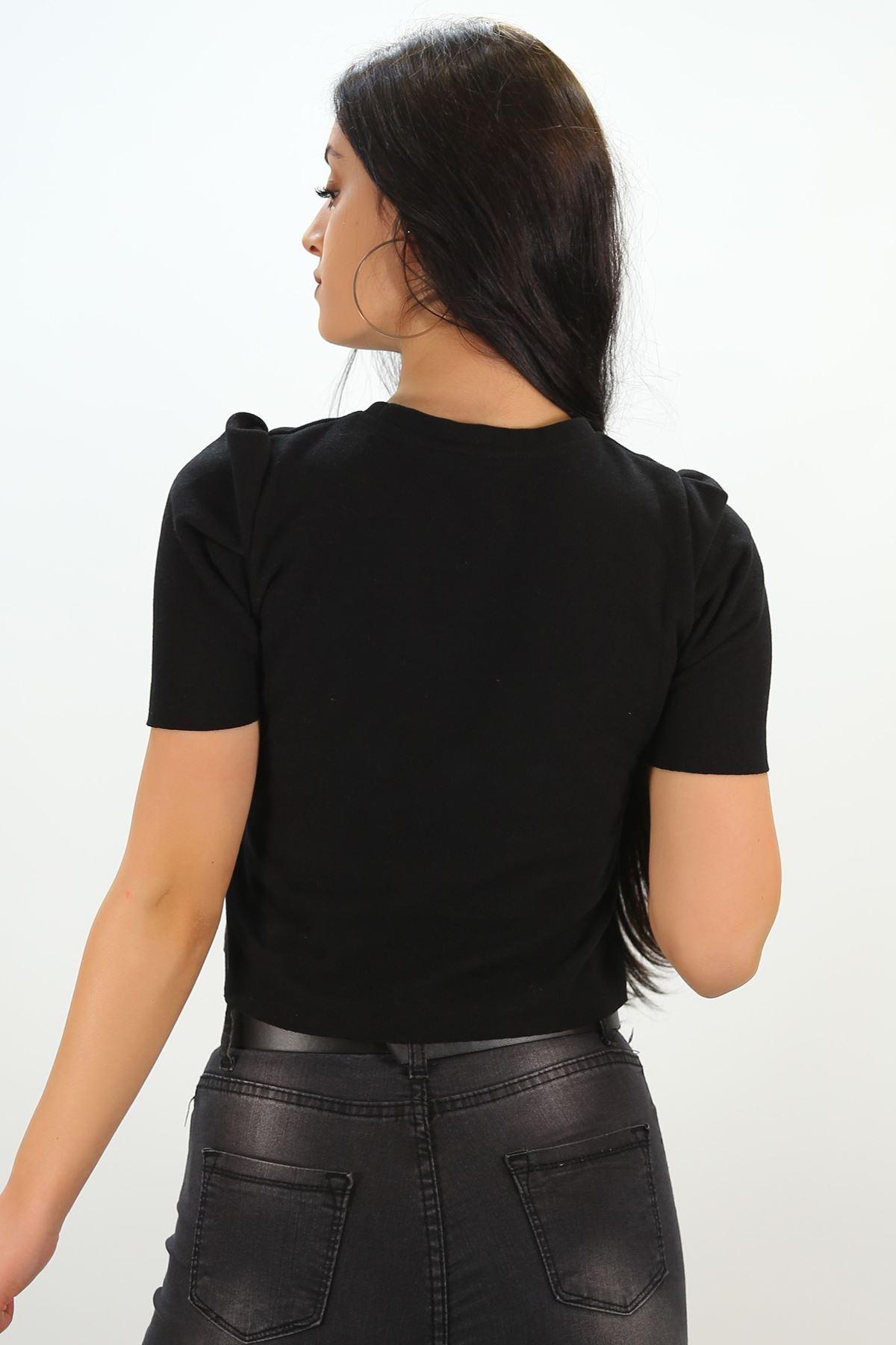 Crop Bluz Siyah - 8069.1186.