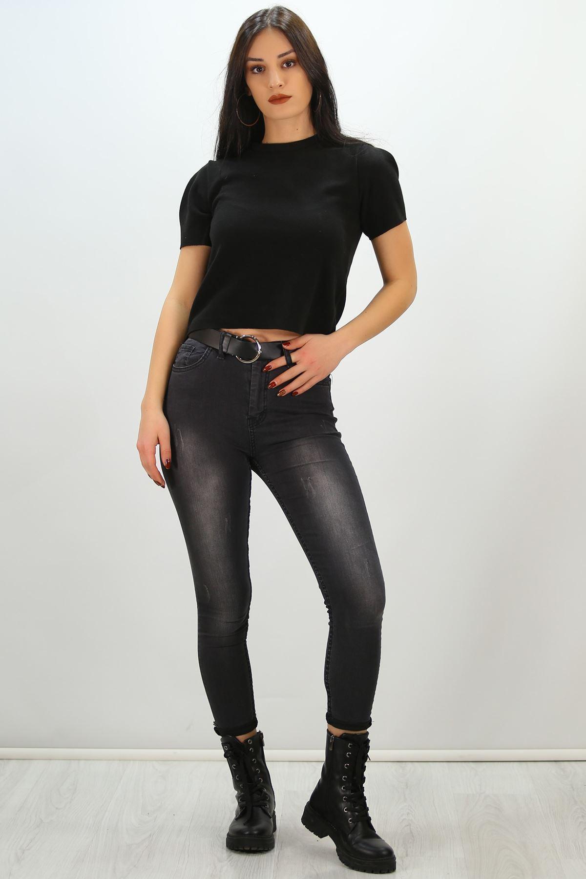Crop Bluz Siyah - 8068.1230.
