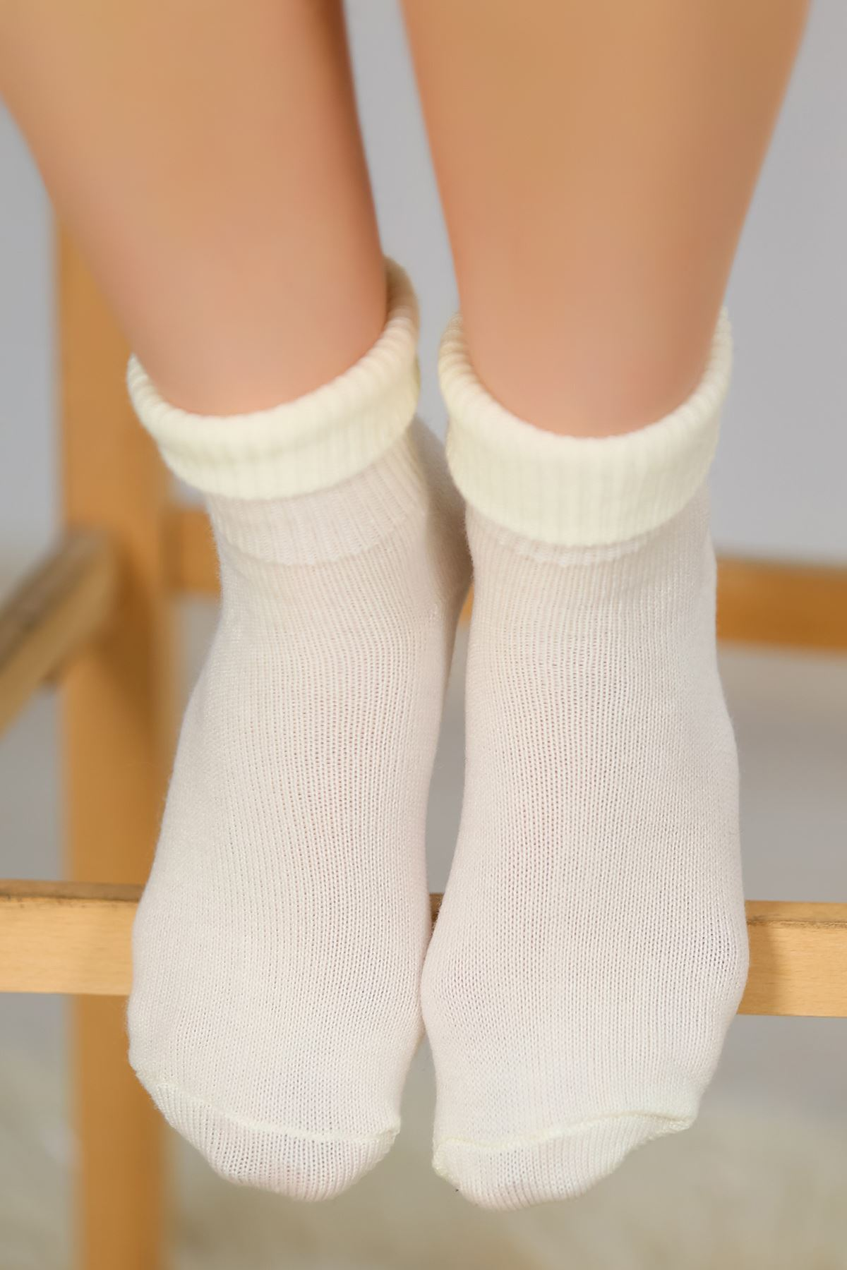Bayan Bot Çorabı Ekru - 48100.1114.