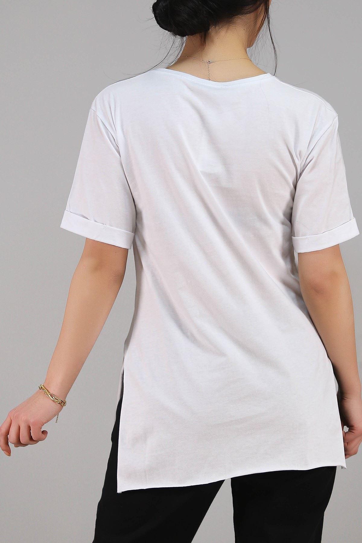 Baskılı Tişört Beyaz - 4995.336.