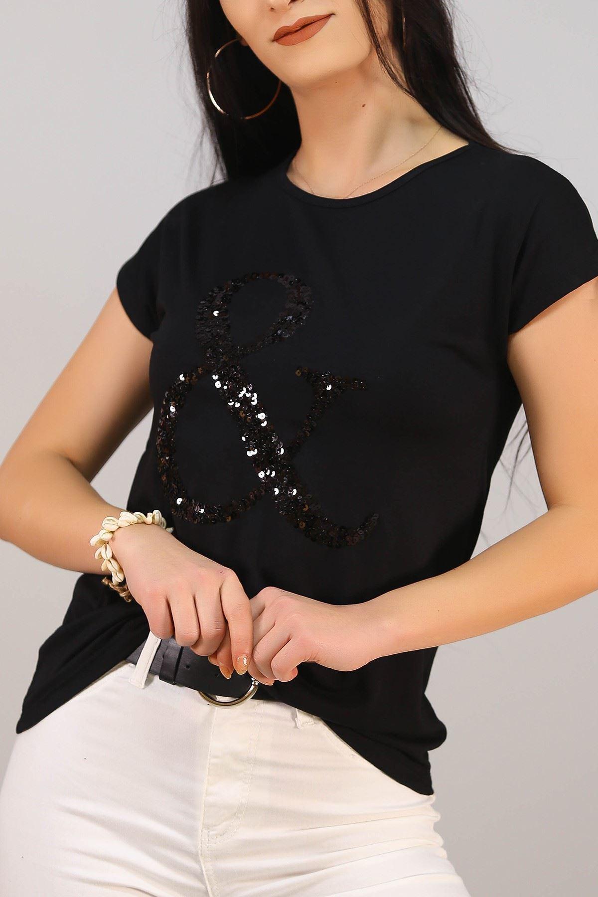 Pullu Tişört Siyah - 5027.139.