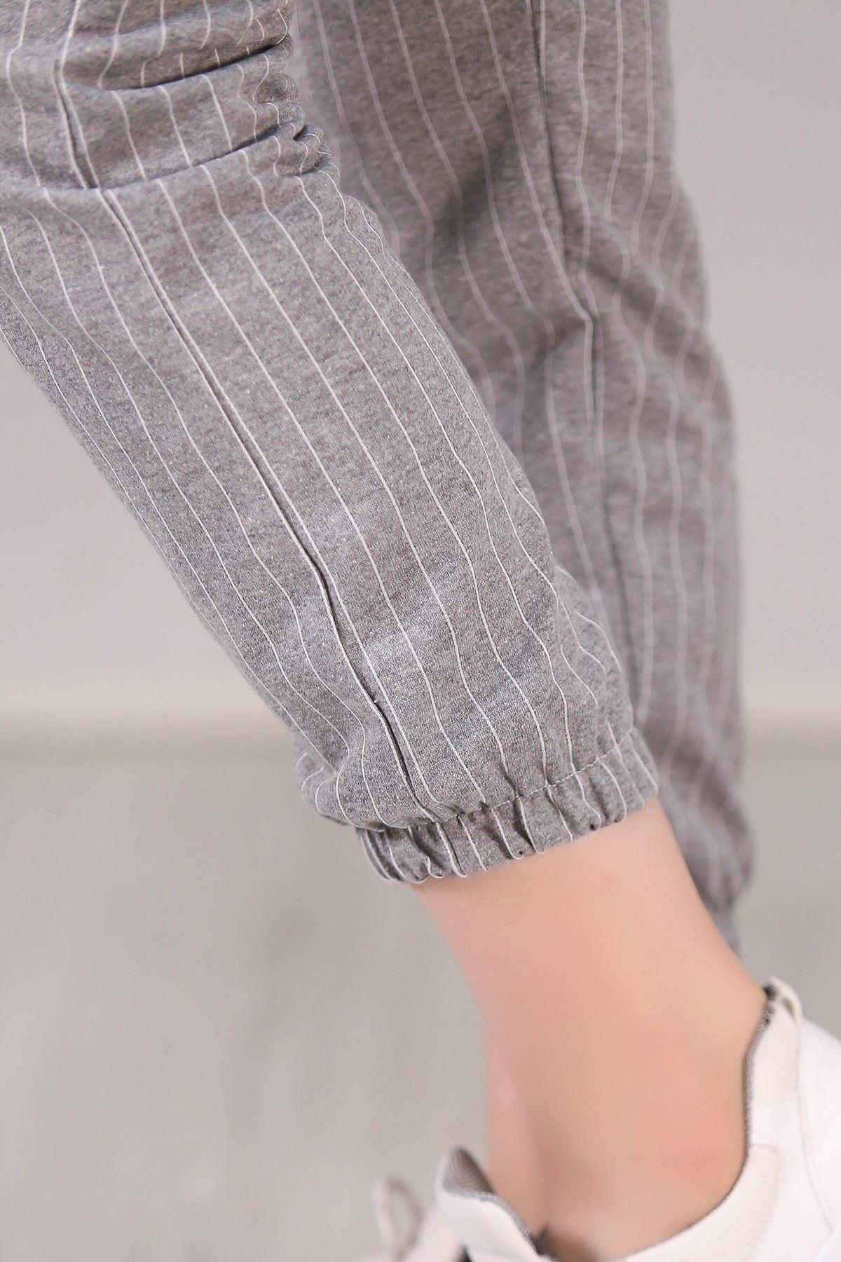 Çizgili Pantolon Gri - 5057.102.