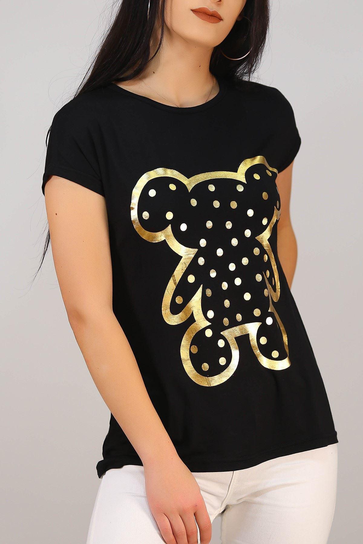 Koala Baskılı Tişört Siyah - 5046.139.