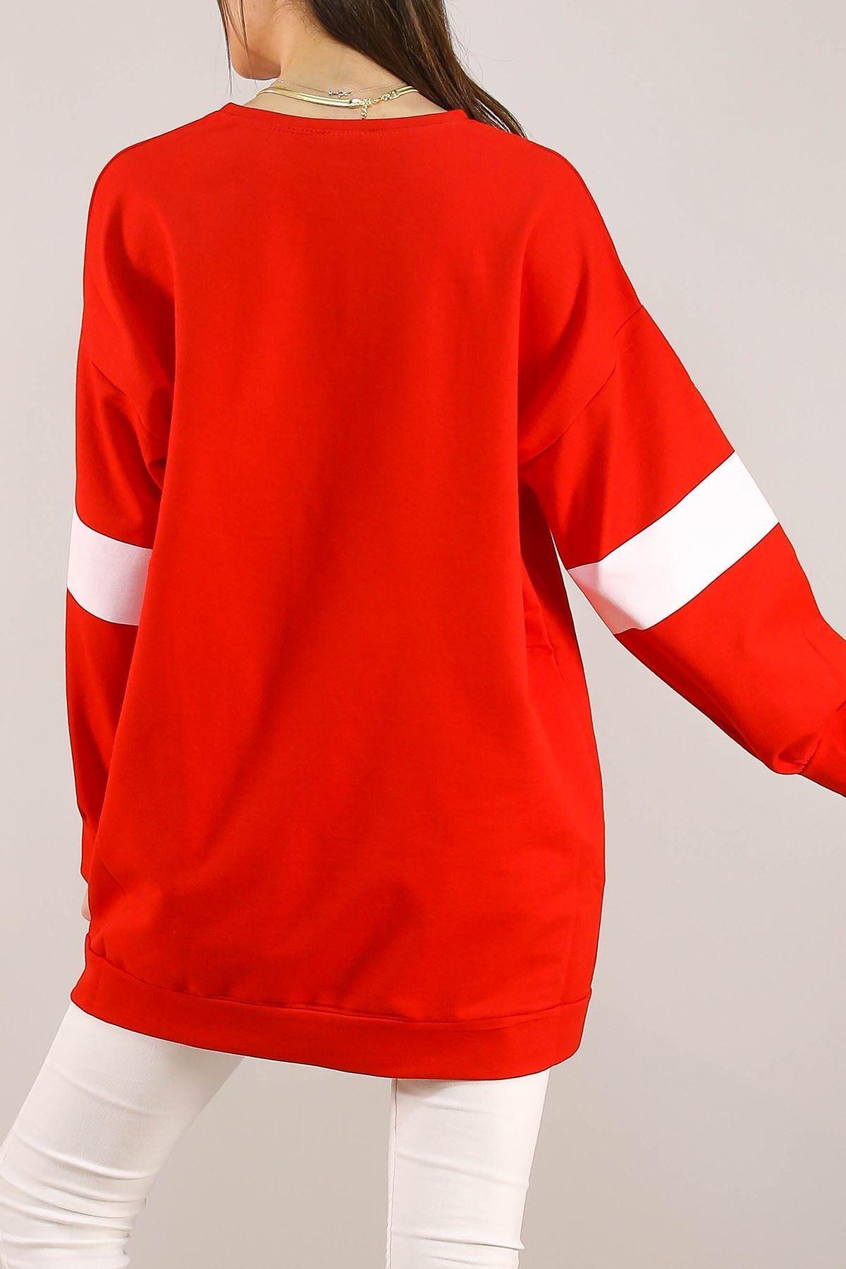 Baskılı Tunik Kırmızı - 3162.105.