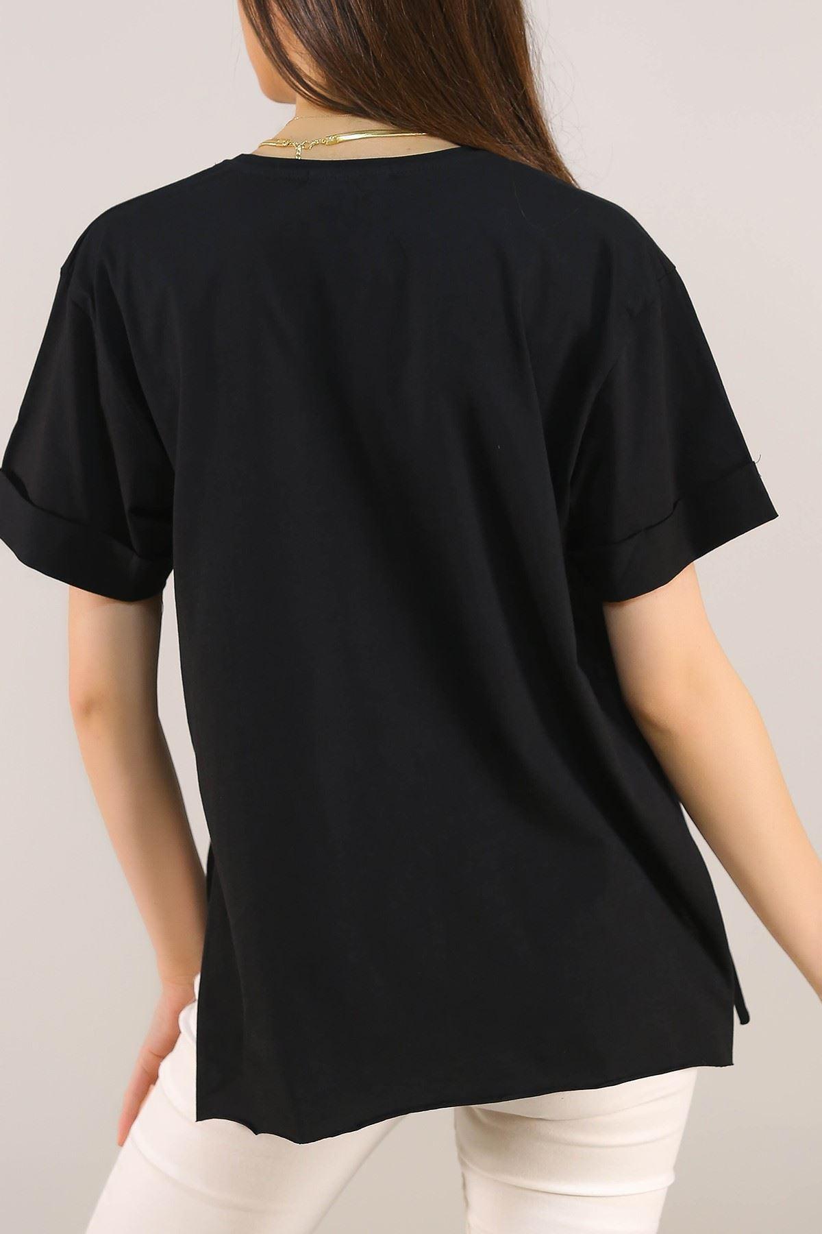 Baskılı Tişört Siyah - 5079.275.