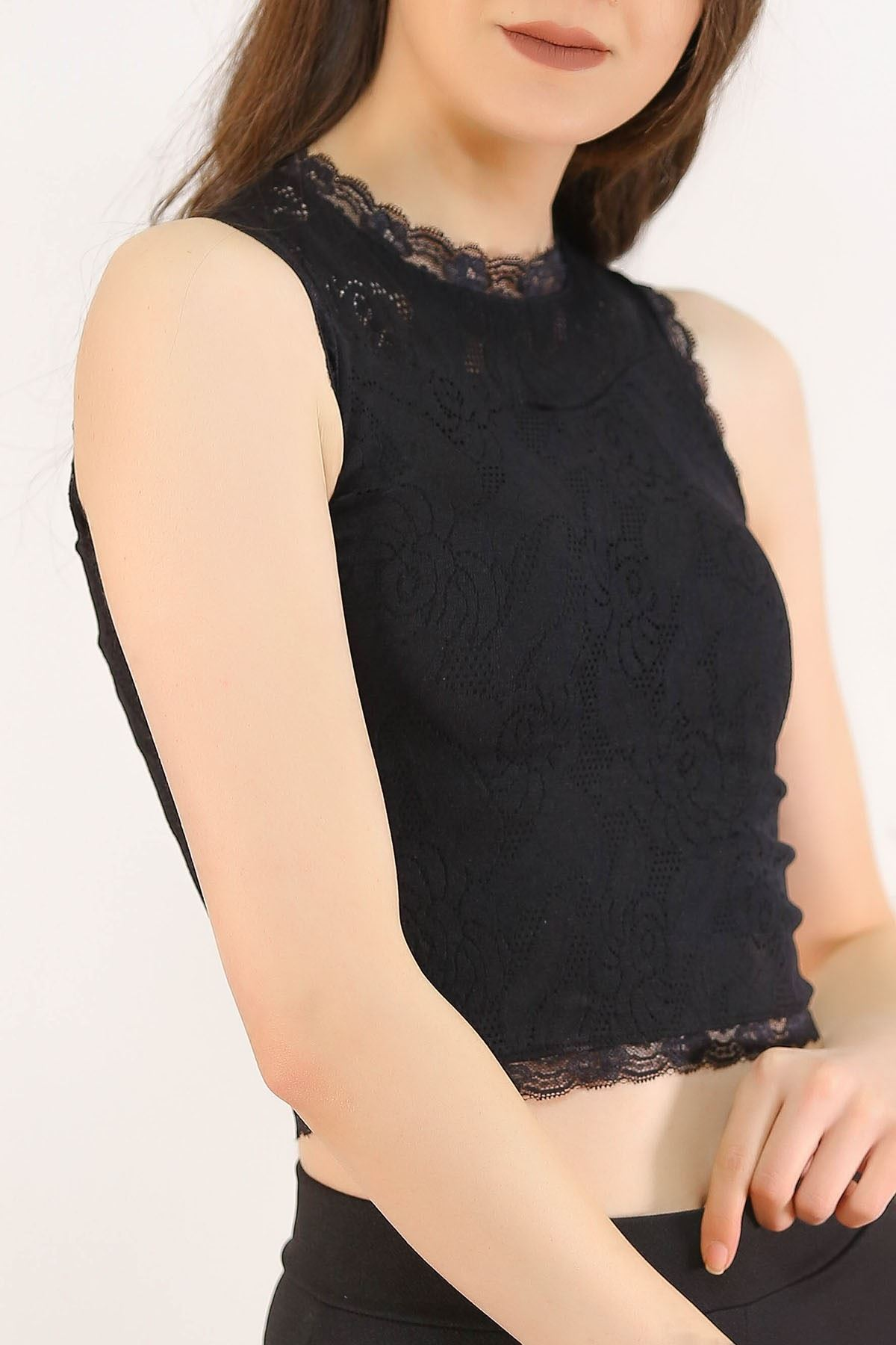 Dantelli Bluz Siyah - 5244.316.