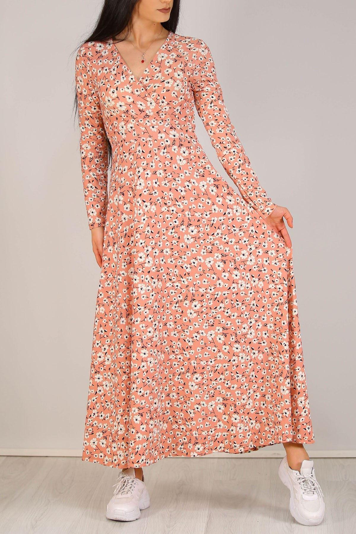 Çiçekli Elbise Pembe - 4987.716.