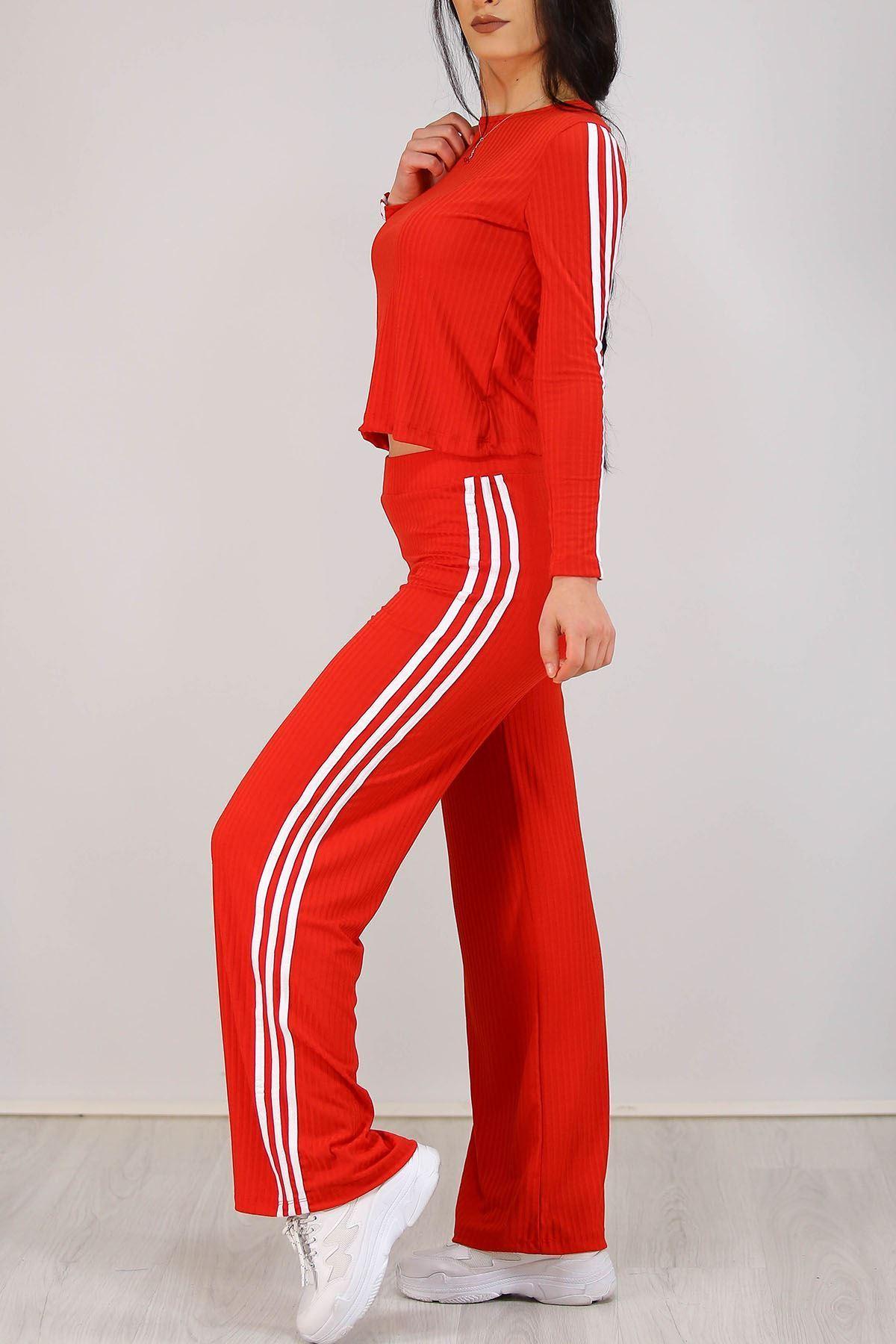 Şeritli İkili Takım Kırmızı - 5255.994.