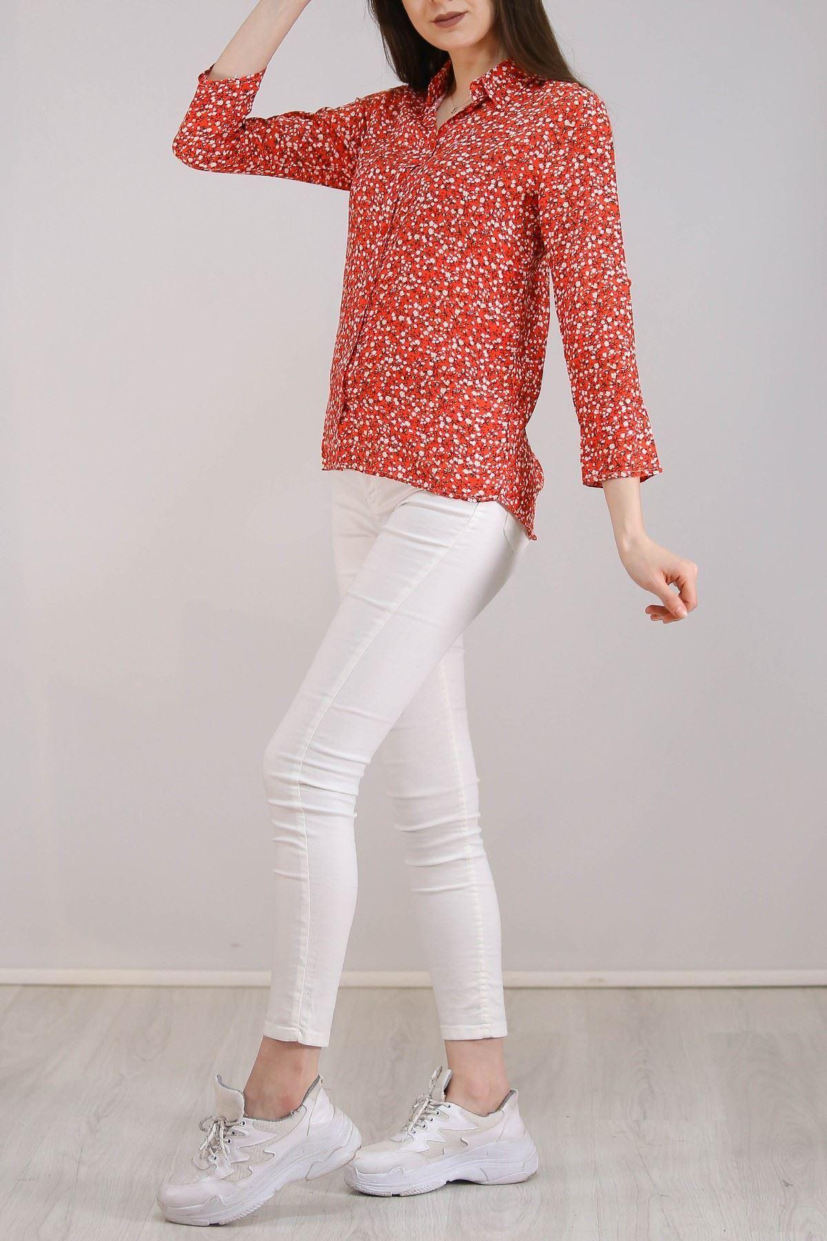 Desenli Gömlek Kırmızıçiçekli - 5087.128.