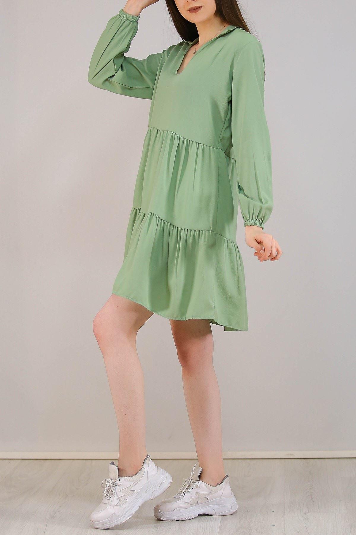 Kısa Krep Elbise Mint - 5273.701.