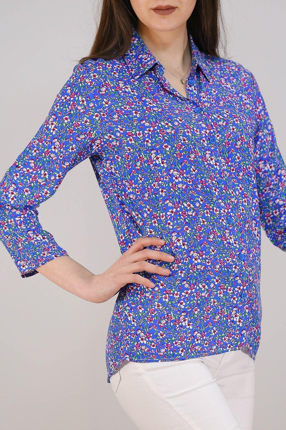 Desenli Gömlek Maviçiçekli - 5087.128.
