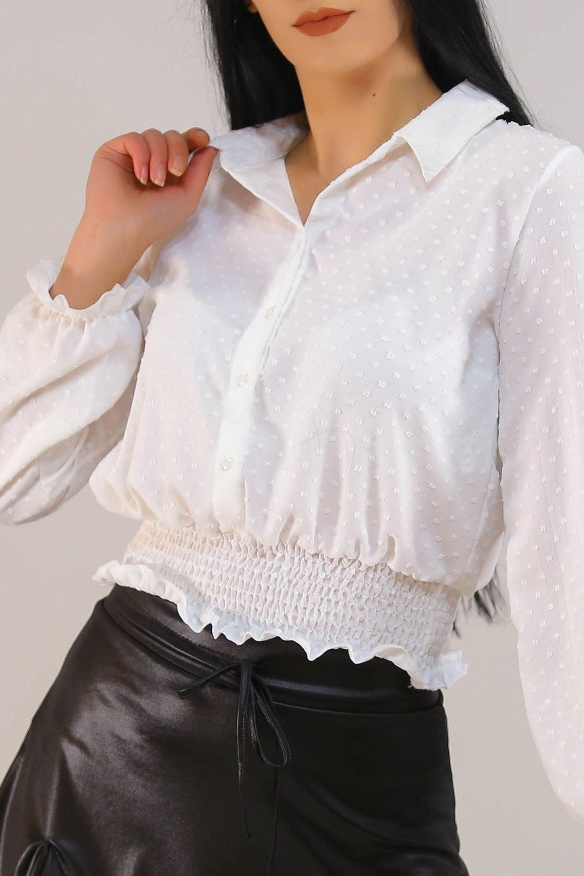 Gipeli Kadın Gömlek Beyaz - 3305.222.