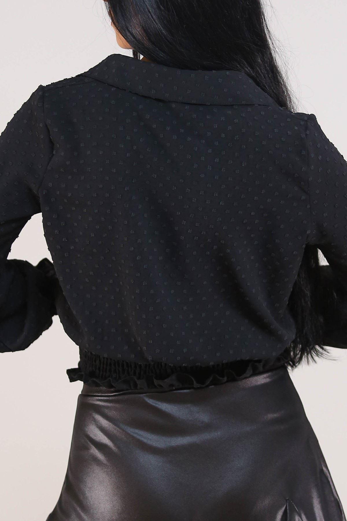 Gipeli Kadın Gömlek Siyah - 3305.222.