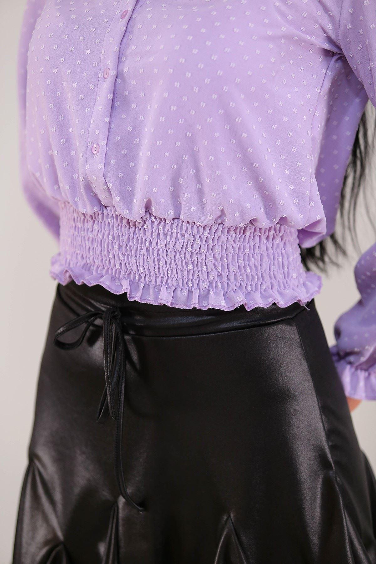 Gipeli Kadın Gömlek Lila - 3305.222.