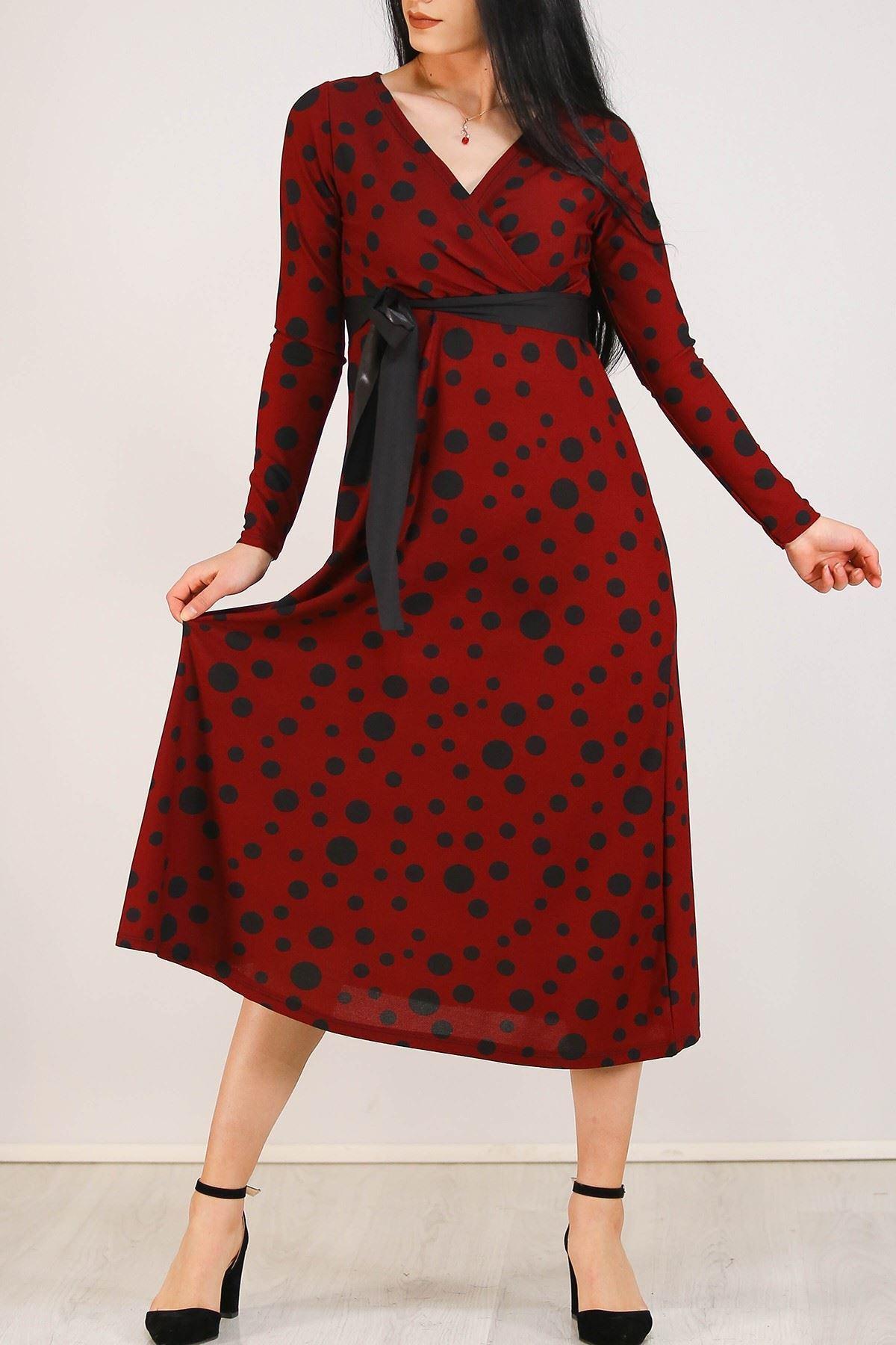Desenli Elbise Bordopuanlı - 5075.716.