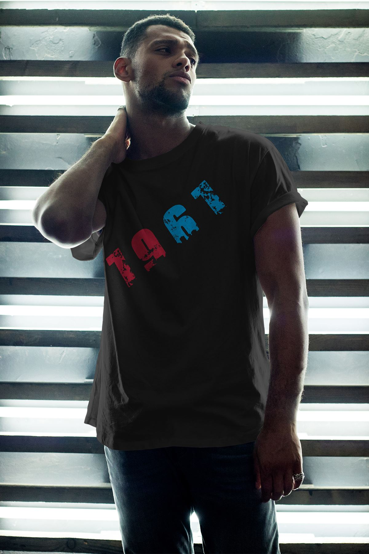 1967 TS Siyah Erkek Oversize Tshirt - Tişört