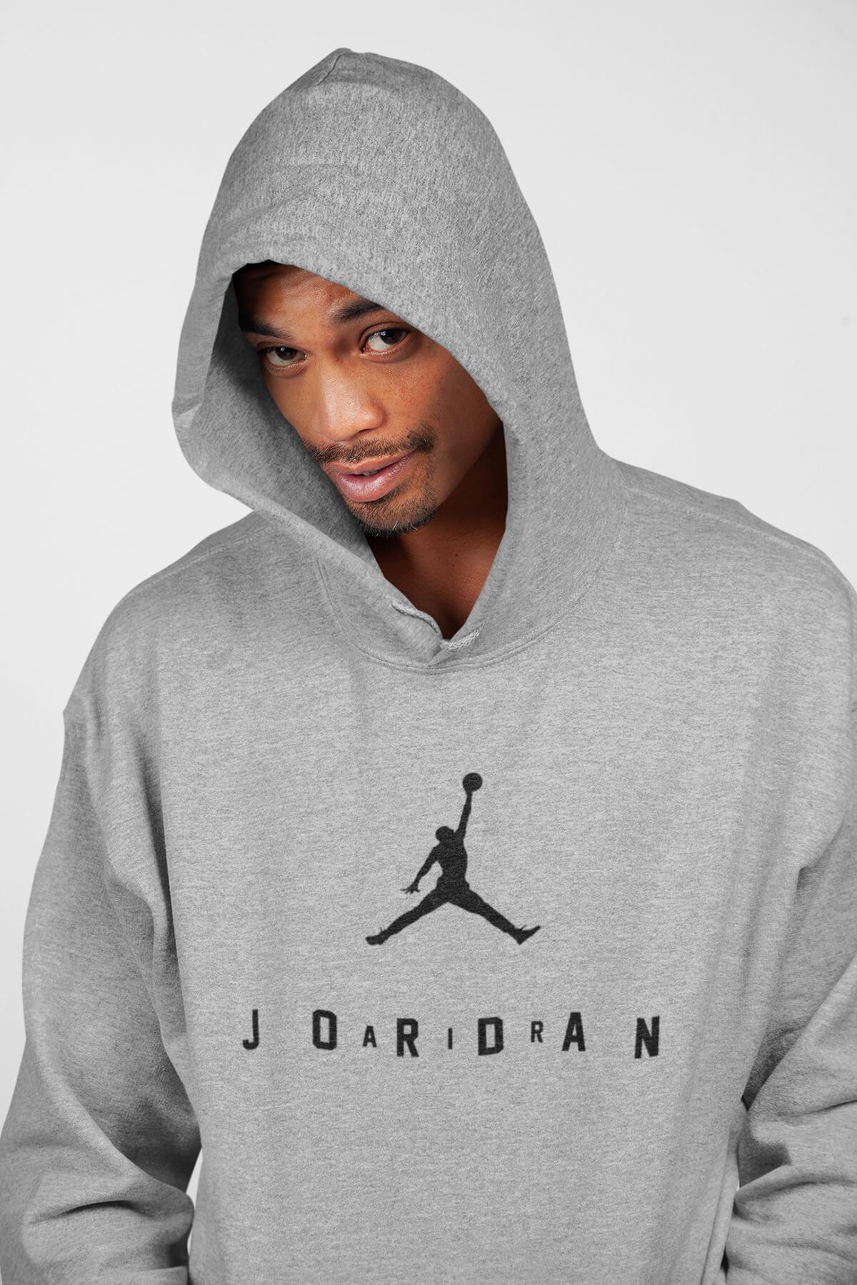 Basketbol 110 Gri Erkek Kapşonlu Sweatshirt - Hoodie