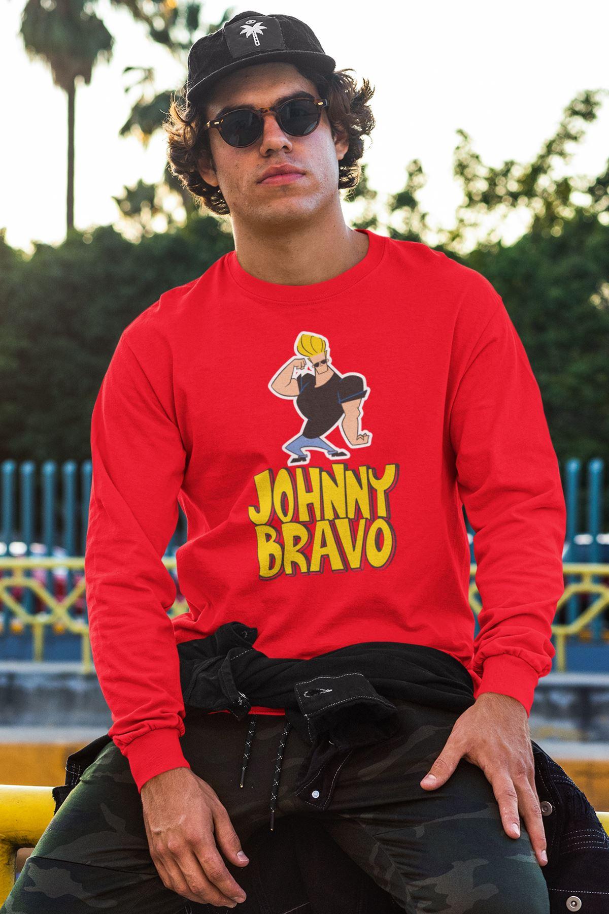 Johnny Bravo 220 Kırmızı Sweatshirt