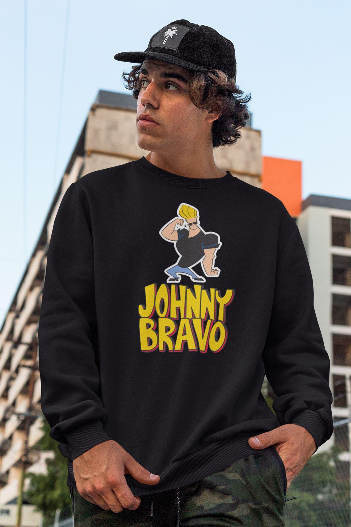Johnny Bravo 220 Siyah Sweatshirt