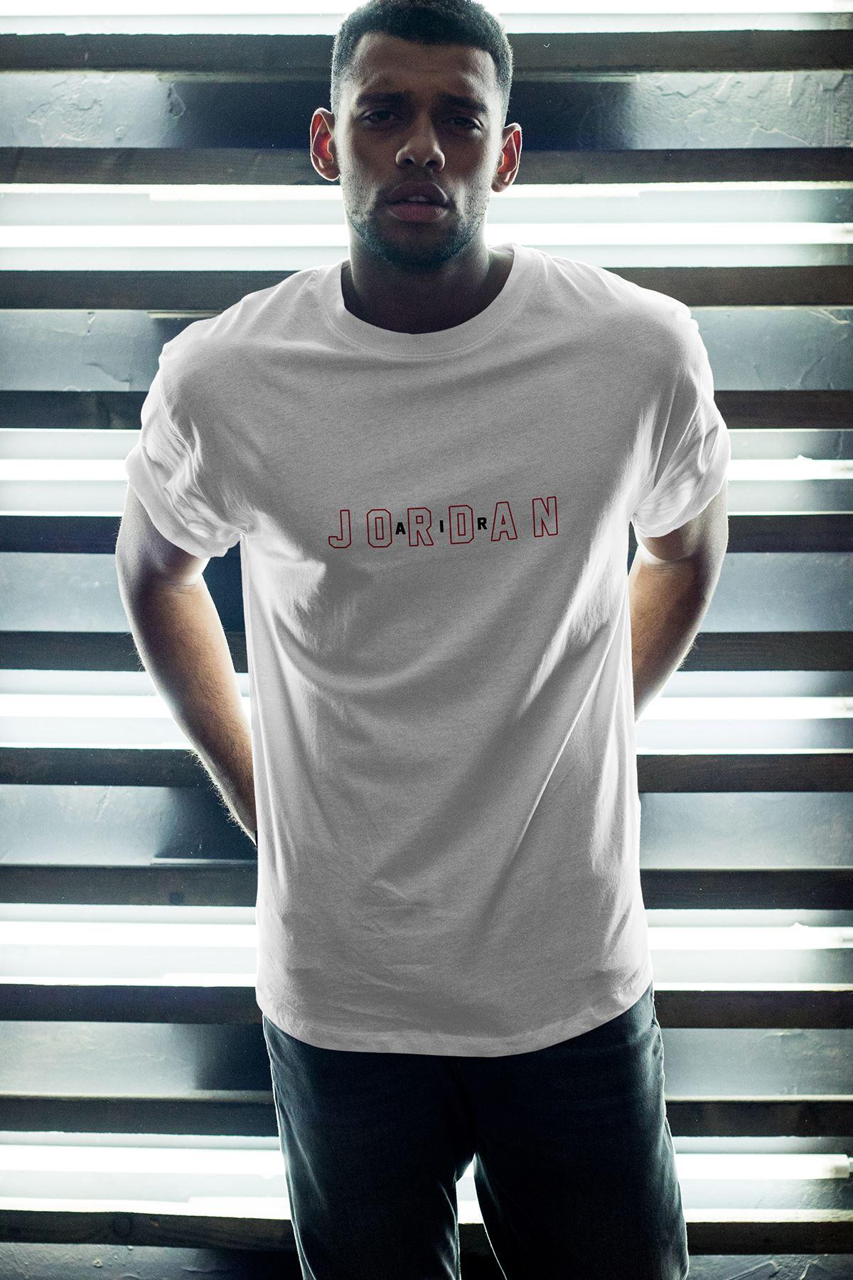JumpMan 169 Beyaz Erkek Oversize Tshirt - Tişört