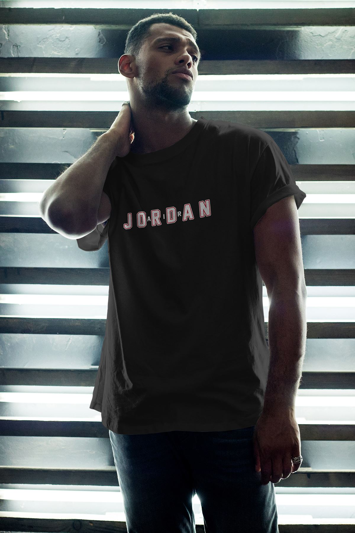 JumpMan 169 Siyah Erkek Oversize Tshirt - Tişört
