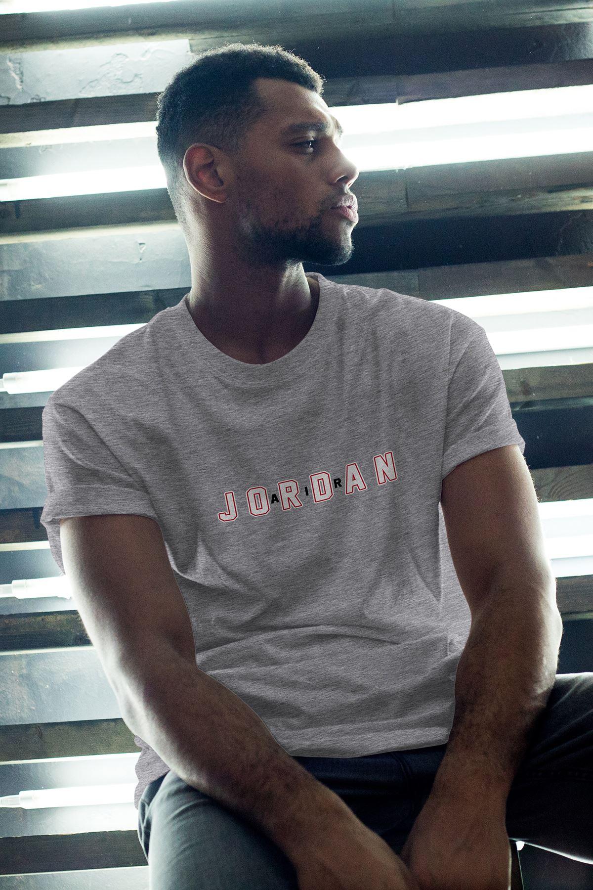 JumpMan 169 Gri Erkek Oversize Tshirt - Tişört