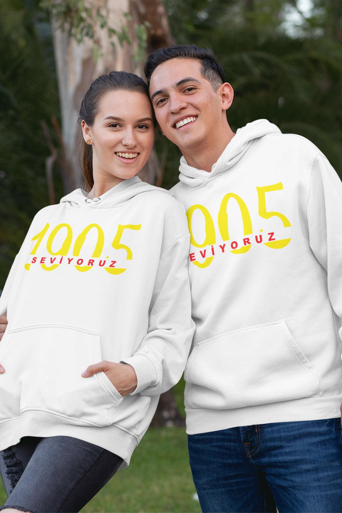 Sevgili Kombini GS 02 Beyaz Kapşonlu Sweatshirt - Tek Ürün Fiyatıdır.