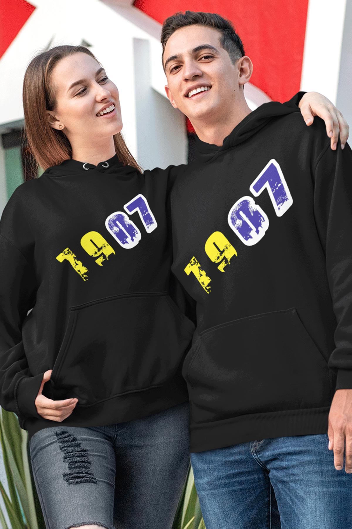Sevgili Kombini FB 01 Siyah Kapşonlu Sweatshirt - Tek Ürün Fiyatıdır.