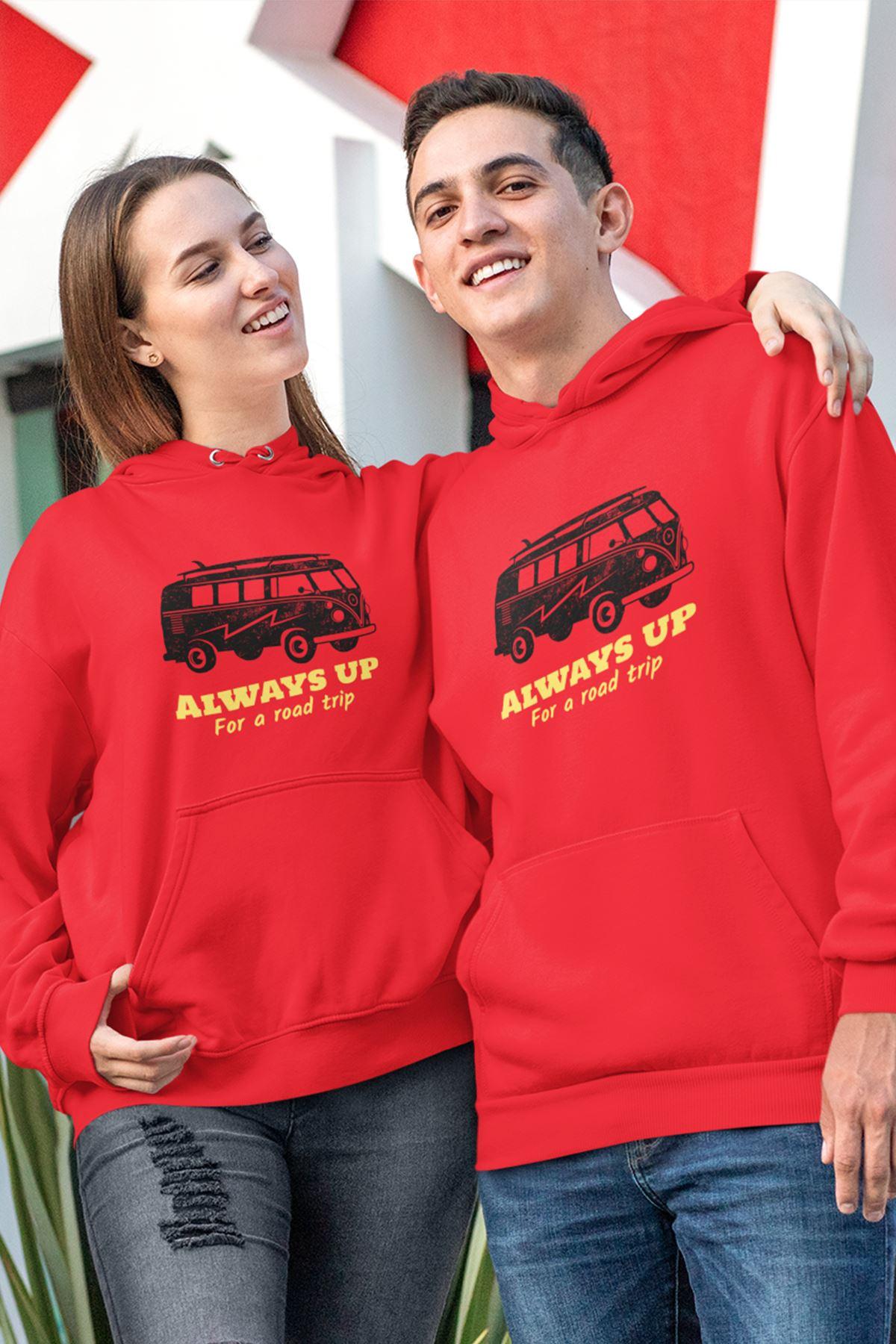 Sevgili Kombini Always Kırmızı Kapşonlu Sweatshirt - Tek Ürün Fiyatıdır.