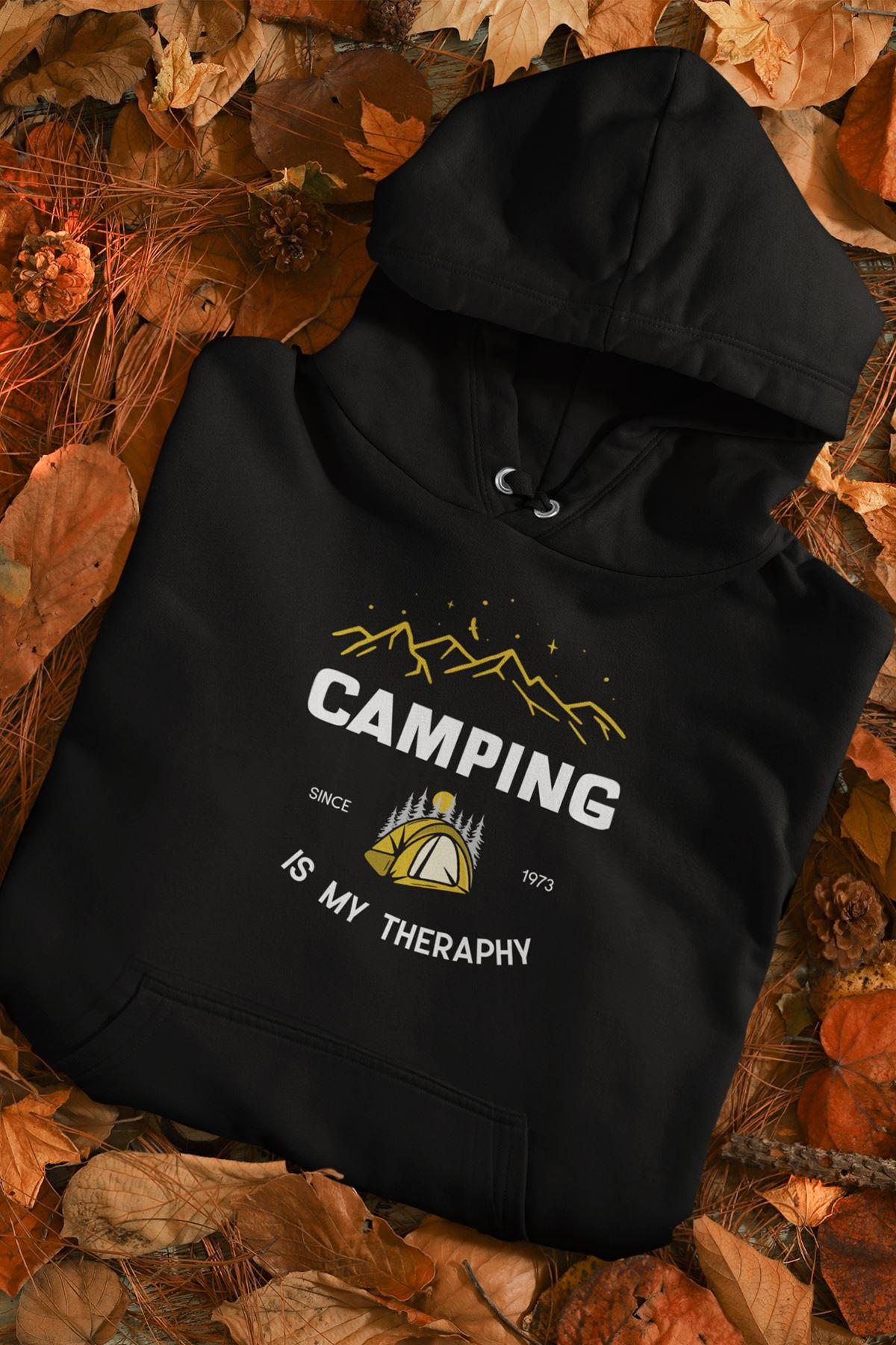 Sevgili Kombini Camping 02 Siyah Kapşonlu Sweatshirt - Tek Ürün Fiyatıdır.