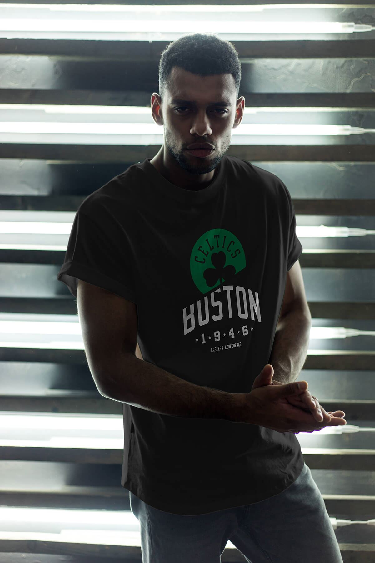 Boston Celtics 24 Siyah Erkek Oversize Tshirt - Tişört