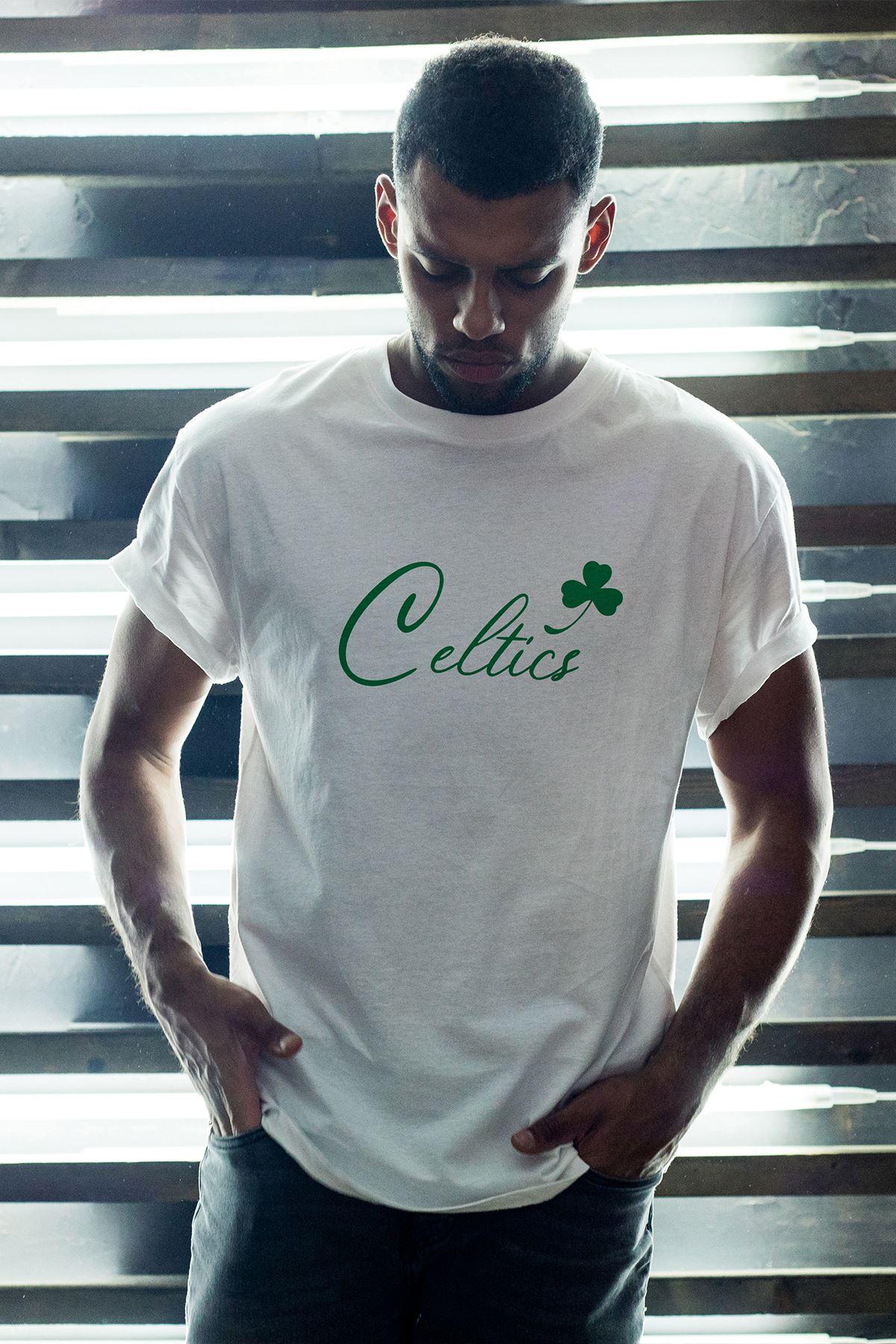 Boston Celtics 28 Beyaz Erkek Oversize Tshirt - Tişört