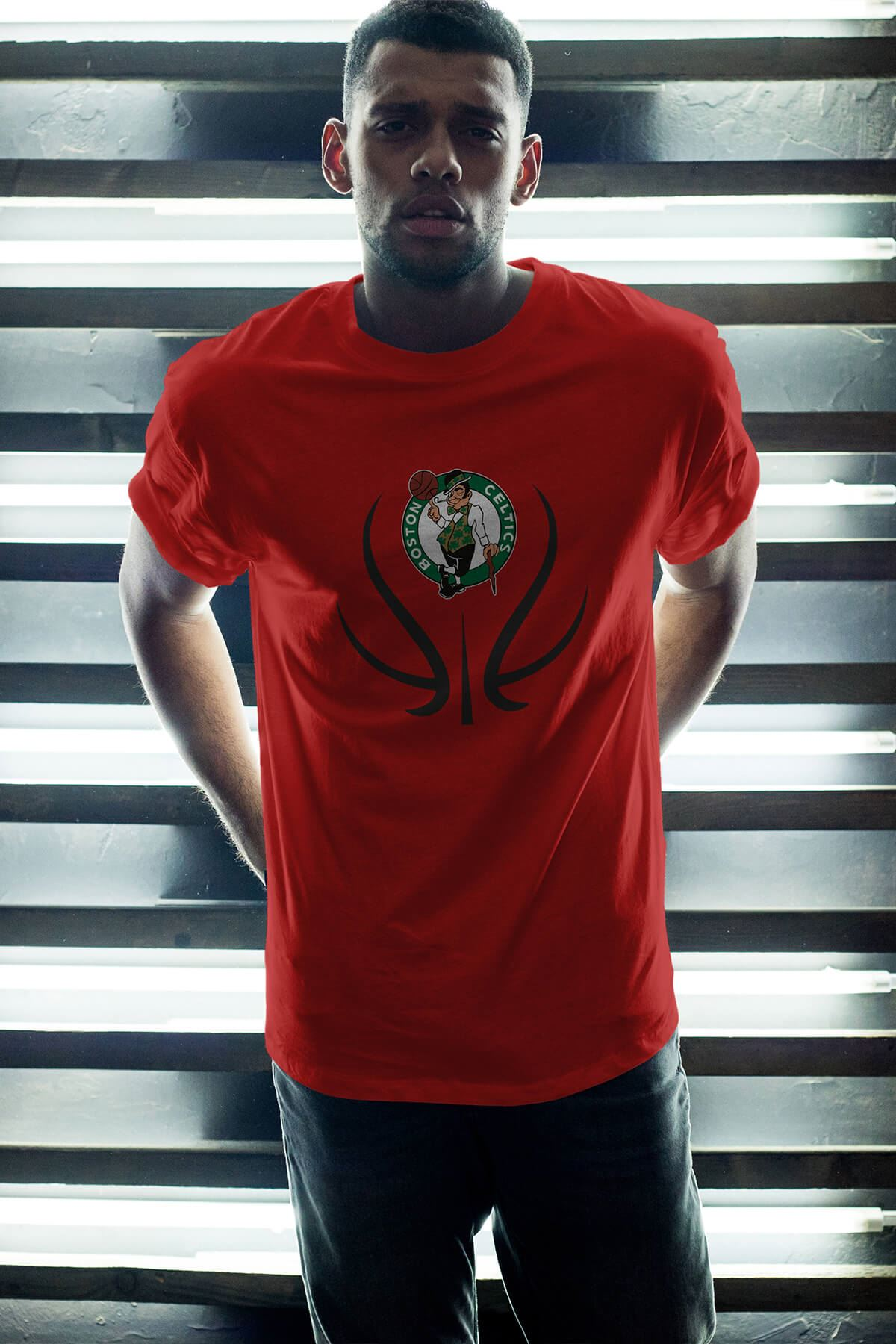 Boston Celtics 29 Kırmızı Erkek Oversize Tshirt - Tişört
