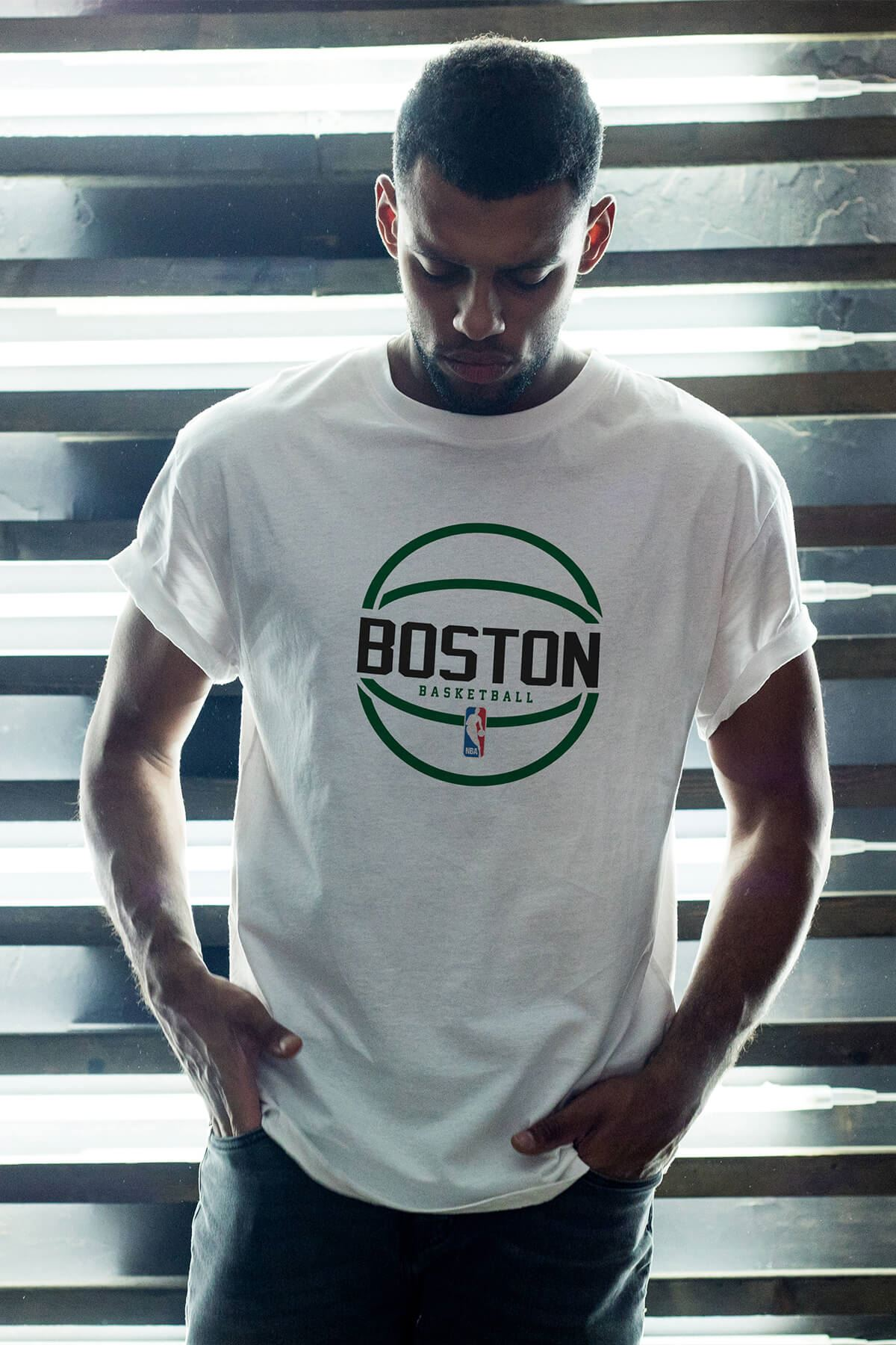 Boston Celtics 30 Beyaz Erkek Oversize Tshirt - Tişört