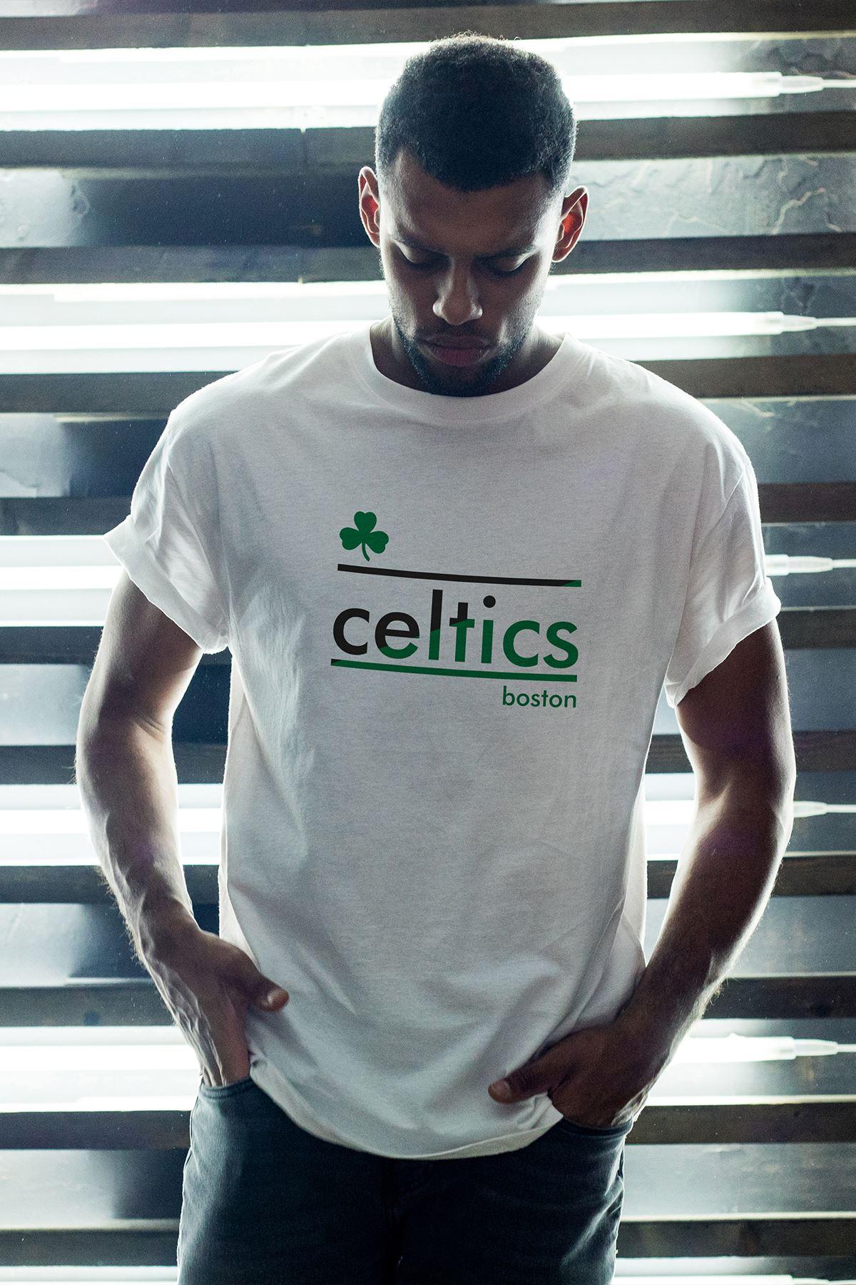 Boston Celtics 25 Beyaz Erkek Oversize Tshirt - Tişört