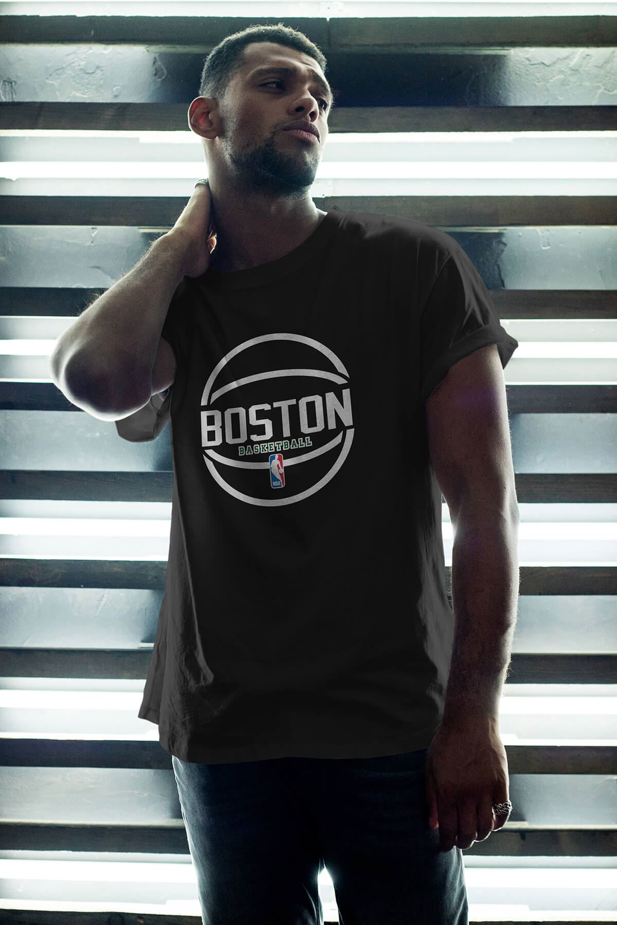 Boston Celtics 30 Siyah Erkek Oversize Tshirt - Tişört