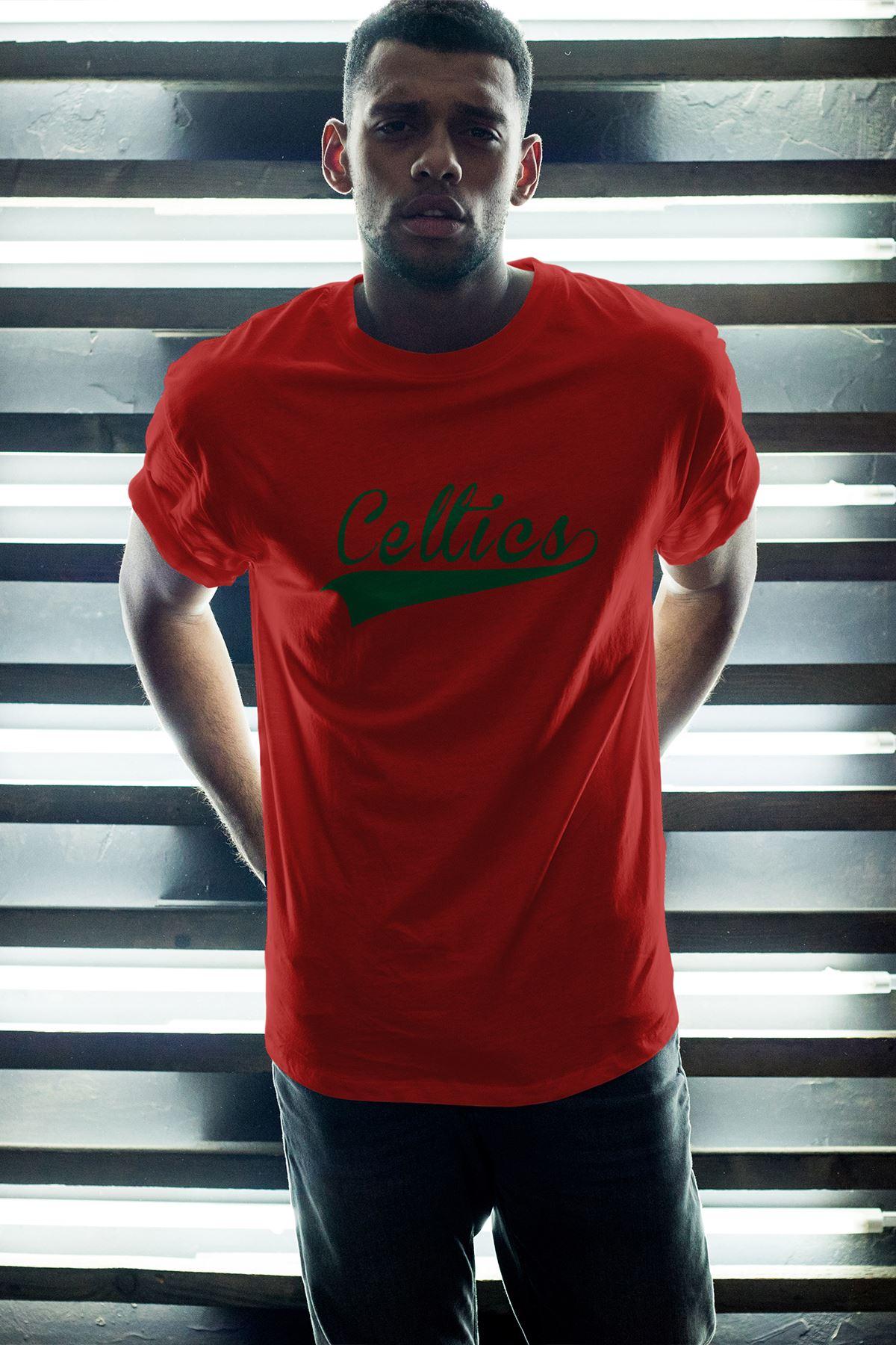 Boston Celtics 32 Kırmızı Erkek Oversize Tshirt - Tişört