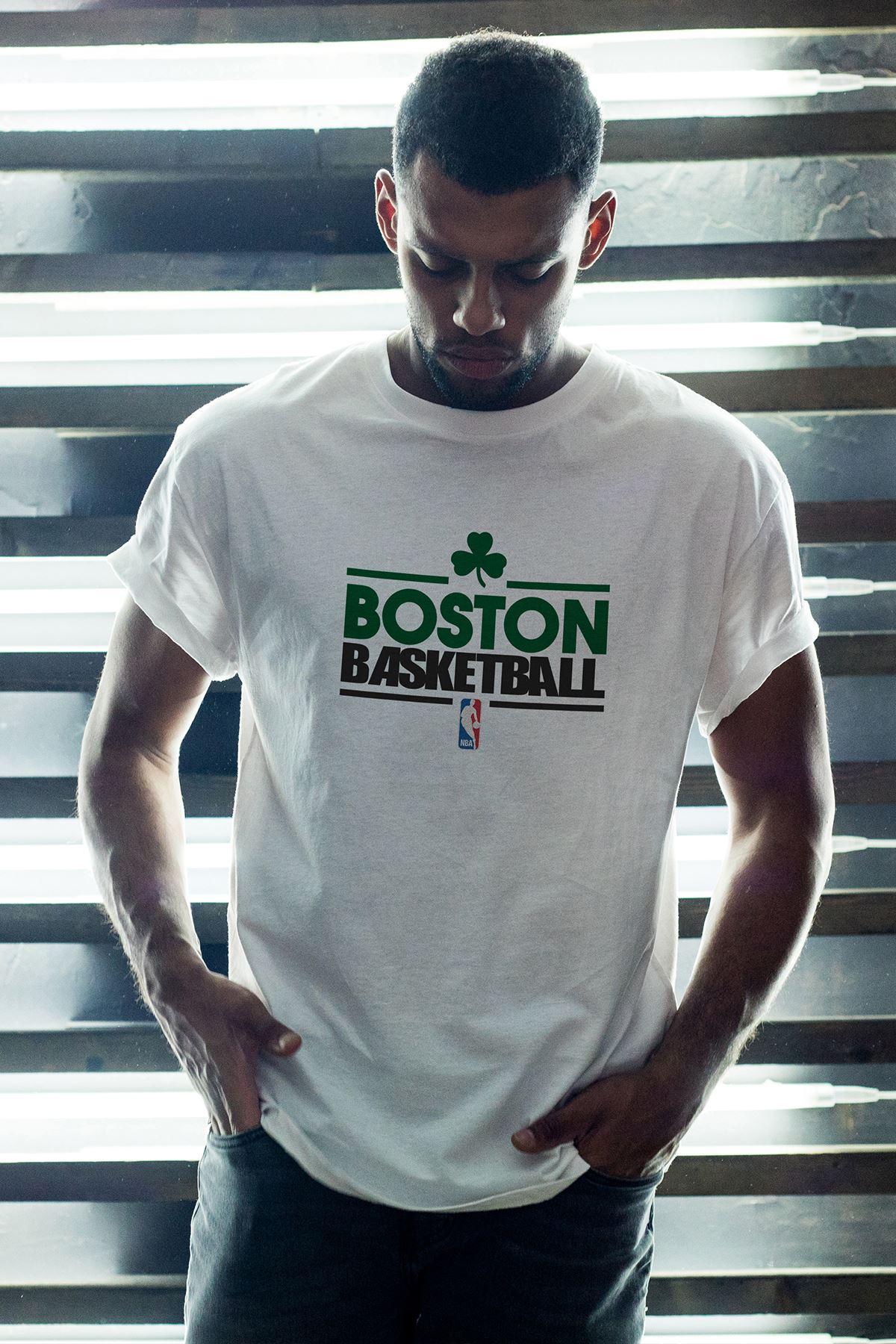 Boston Celtics 34 Beyaz Erkek Oversize Tshirt - Tişört