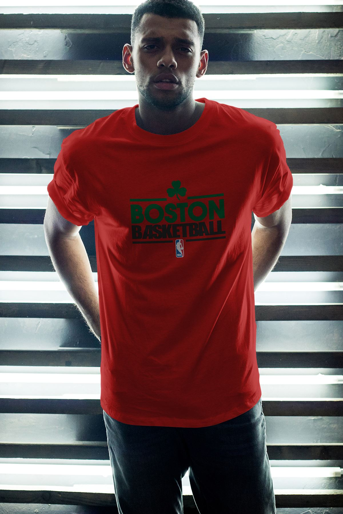 Boston Celtics 34 Kırmızı Erkek Oversize Tshirt - Tişört