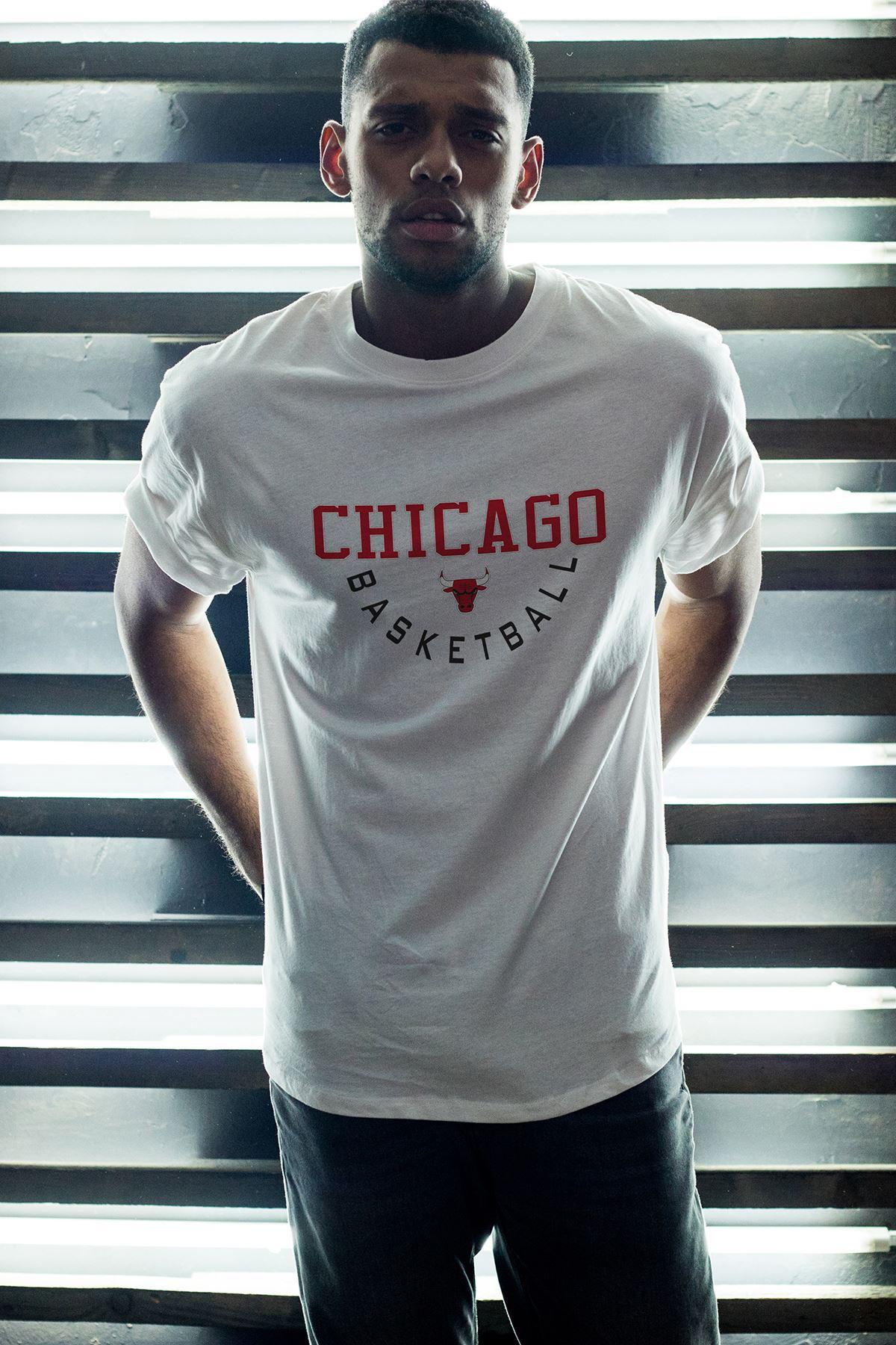 Chicago Bulls 36 Beyaz Erkek Oversize Tshirt - Tişört