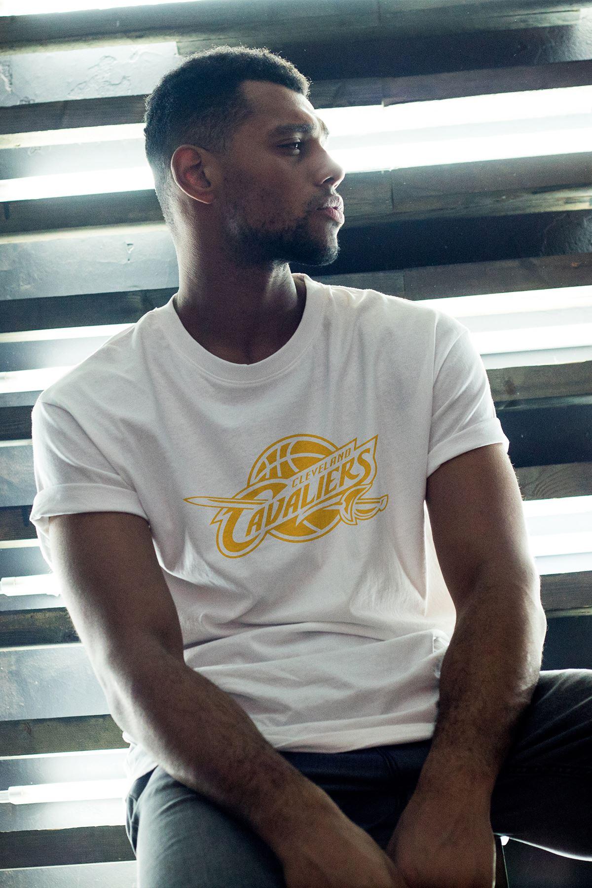 Cleveland 02 Beyaz Erkek Oversize Tshirt - Tişört