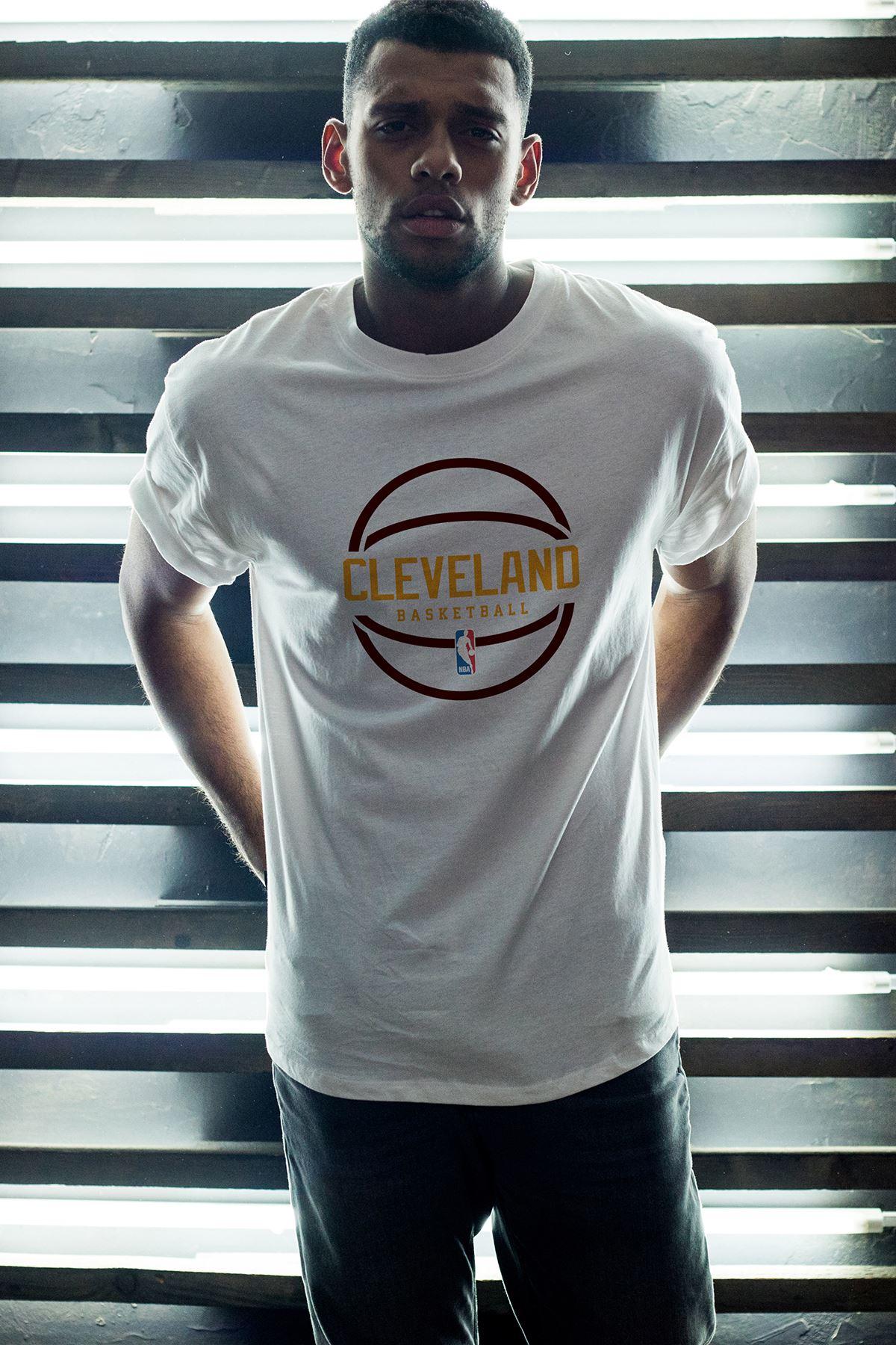 Cleveland 03 Beyaz Erkek Oversize Tshirt - Tişört