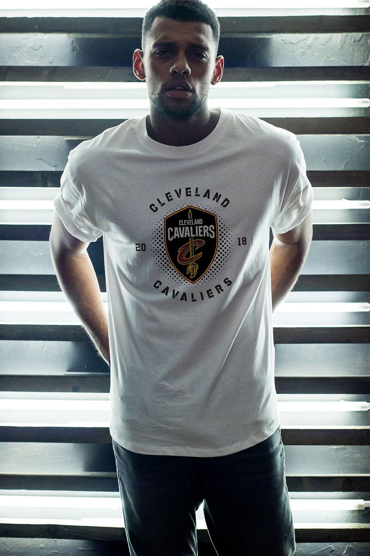 Cleveland 04 Beyaz Erkek Oversize Tshirt - Tişört
