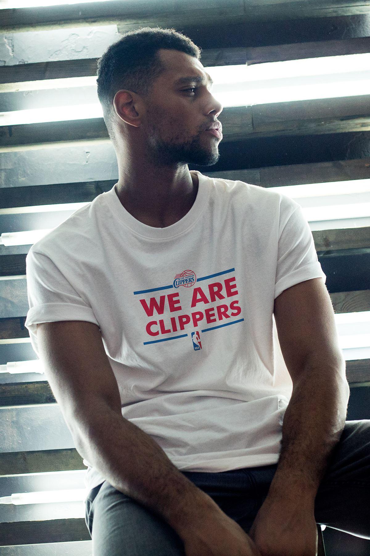 Clippers 164 Beyaz Erkek Oversize Tshirt - Tişört