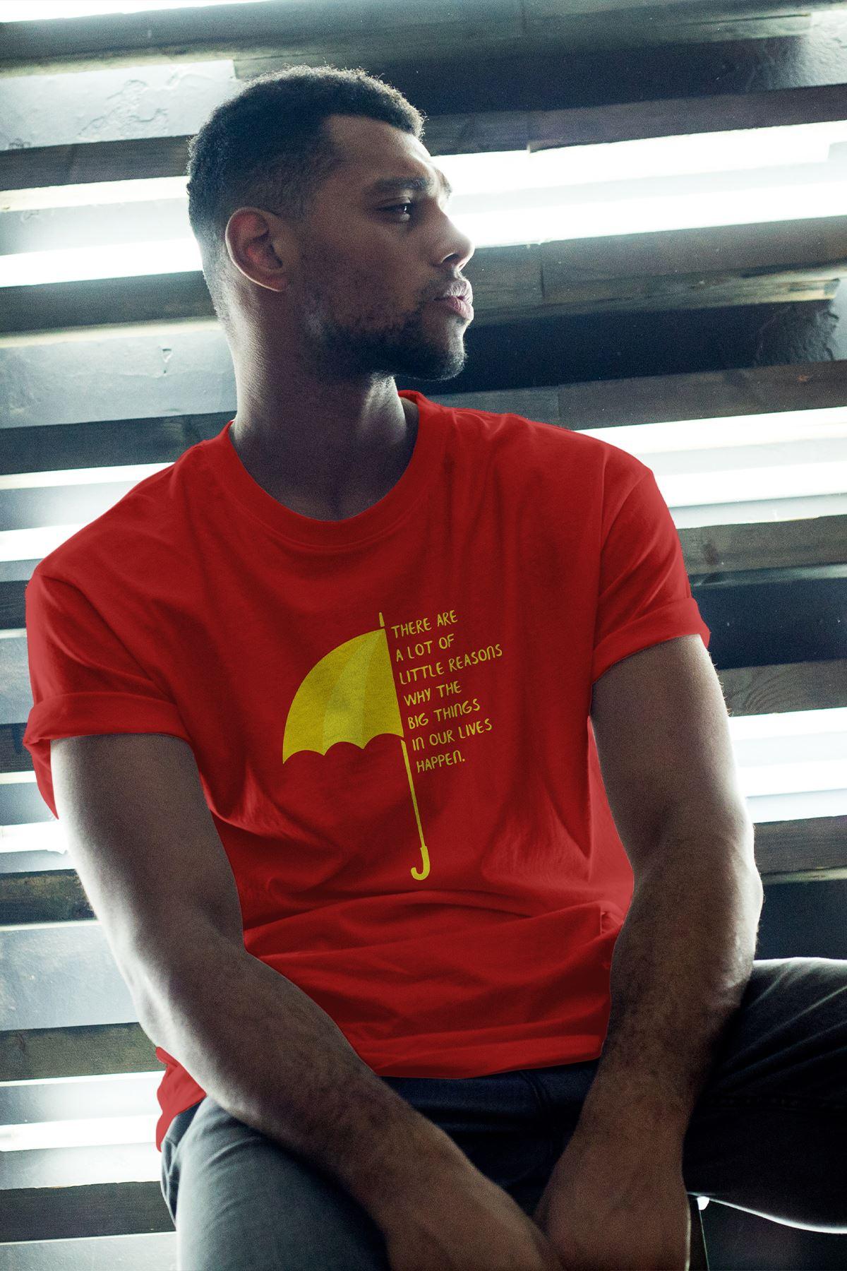 Meet Mother 02 Kırmızı Erkek Oversize Tshirt - Tişört