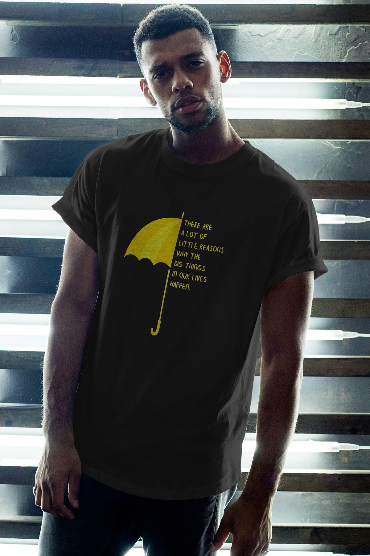 Meet Mother 02 Siyah Erkek Oversize Tshirt - Tişört