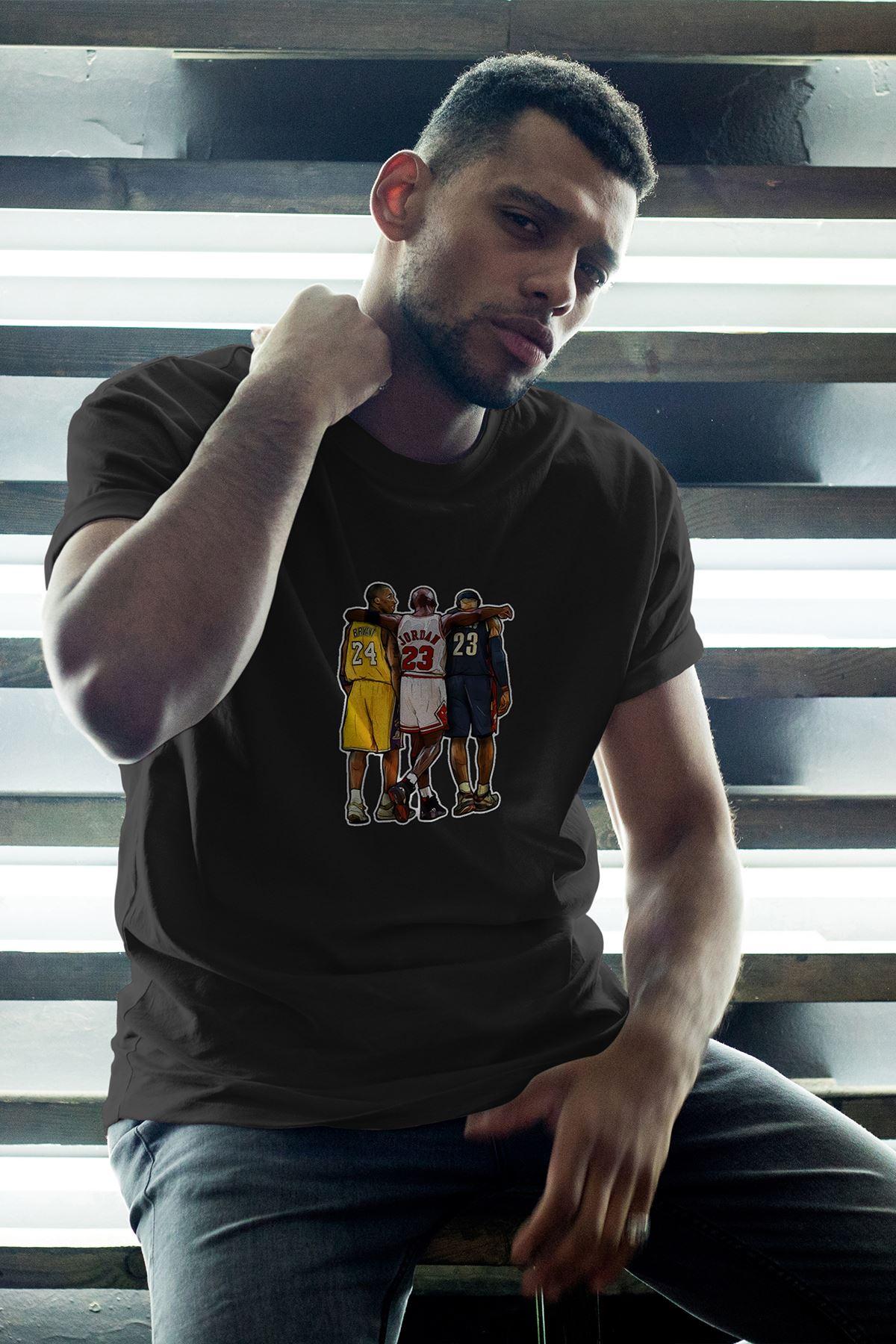 Legends 40 Siyah Erkek Oversize Tshirt - Tişört