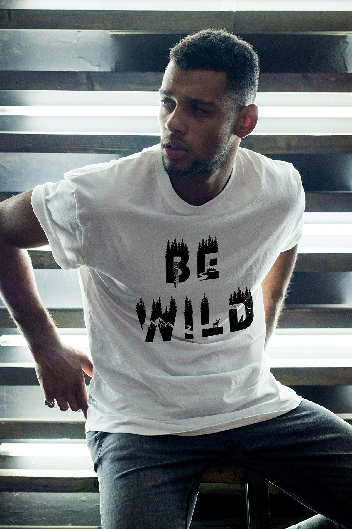 Bewild Beyaz Erkek Oversize Tshirt - Tişört