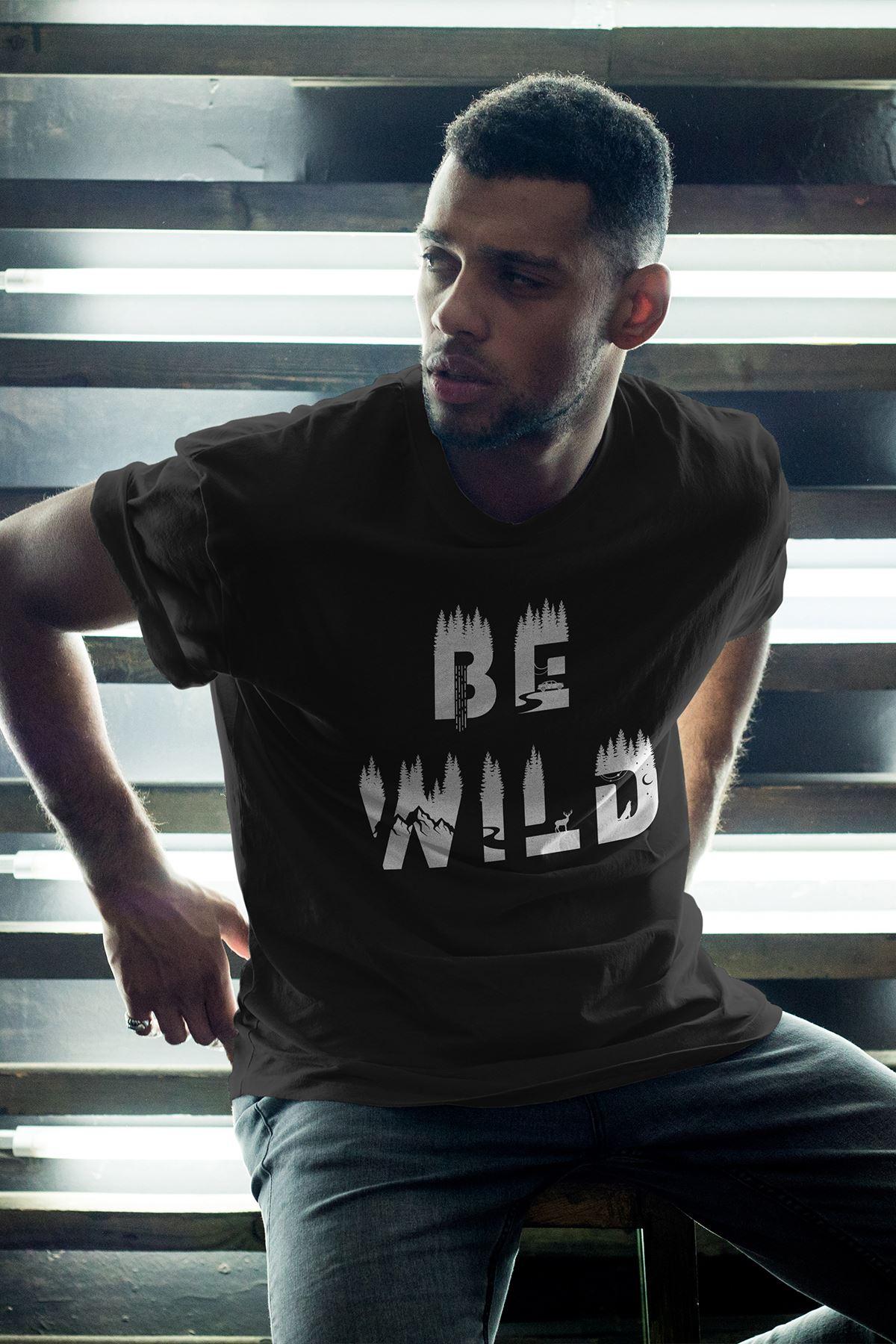 Bewild Siyah Erkek Oversize Tshirt - Tişört